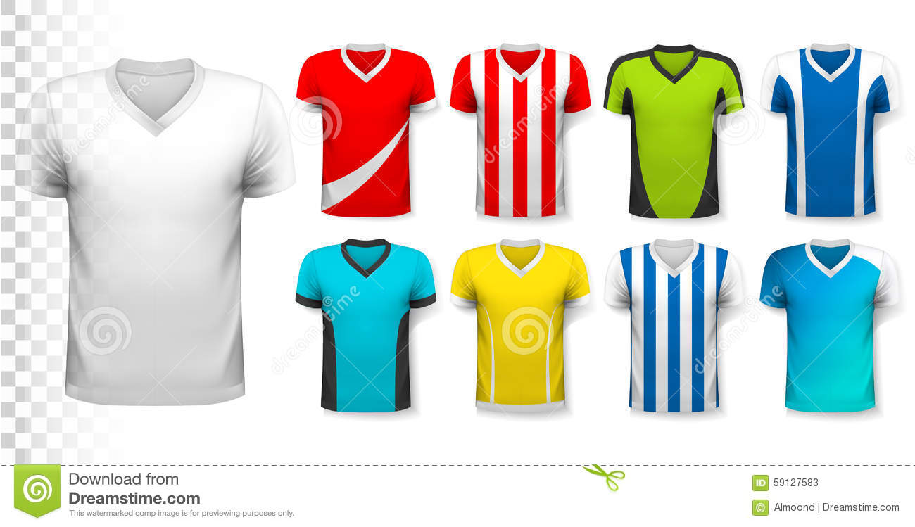 Collection of various soccer jerseys stock vector image for Be your own architect
