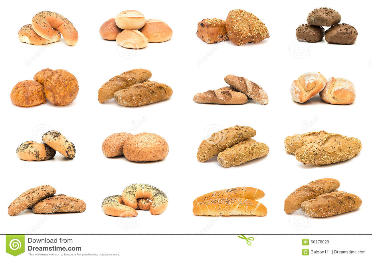 Collection Of Various Types Of Breads Stock Image Image