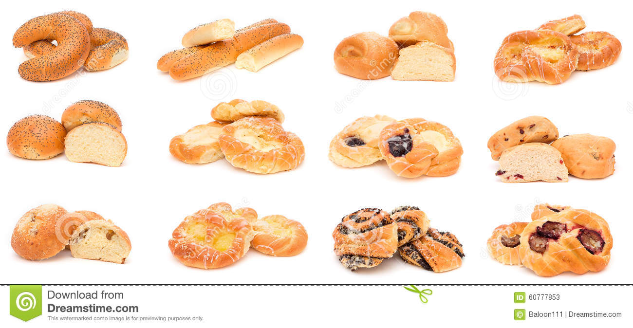 Collection Of Various Types Of Breads. Stock Photo - Image: 60778029