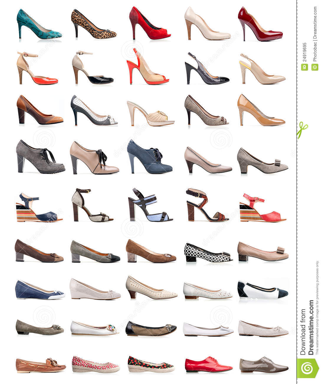 Collection Of Various Types Of Female Shoes Stock Image ...