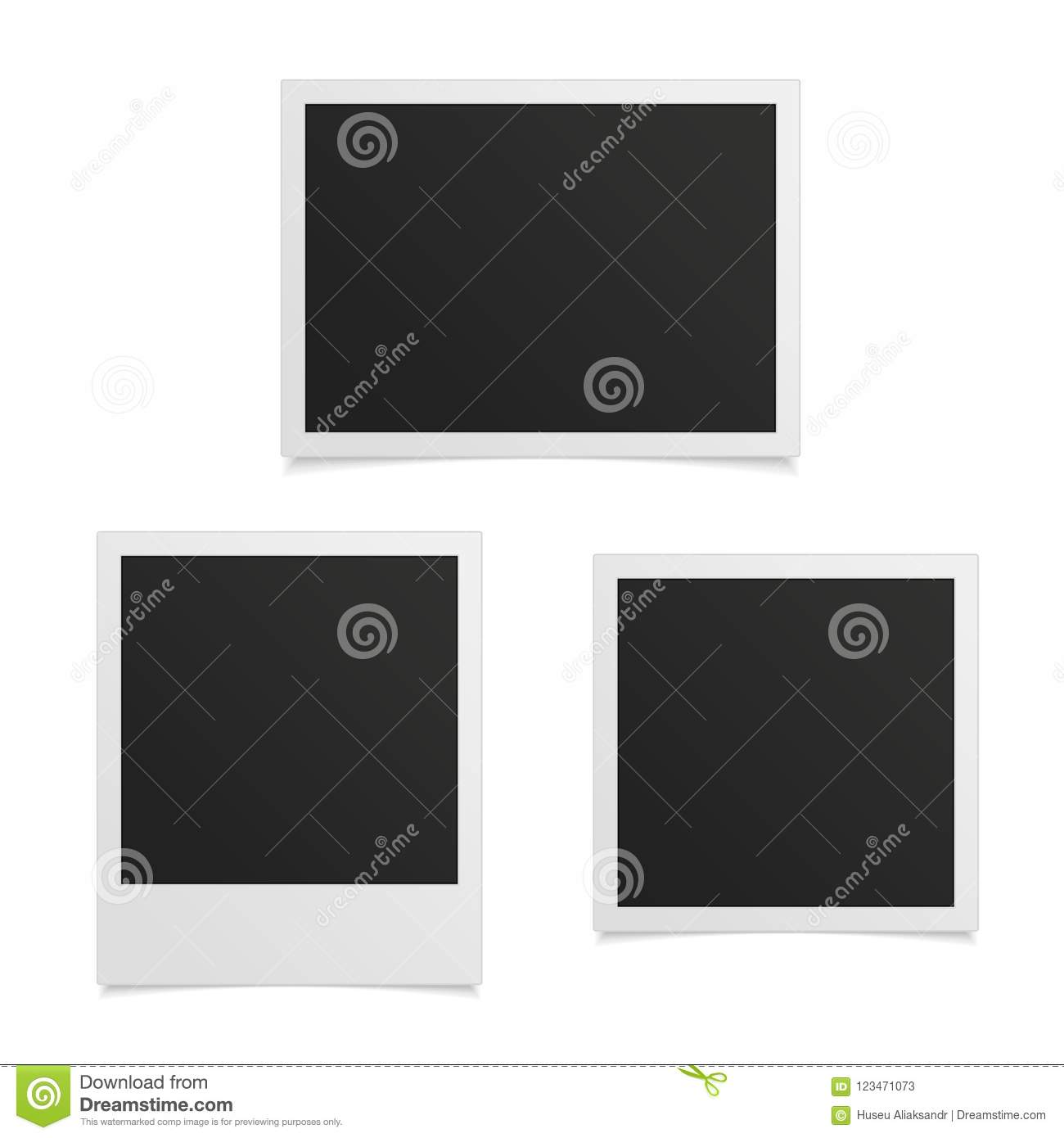 Photo Frame Set Stock Vector Illustration Of Instant 123471073