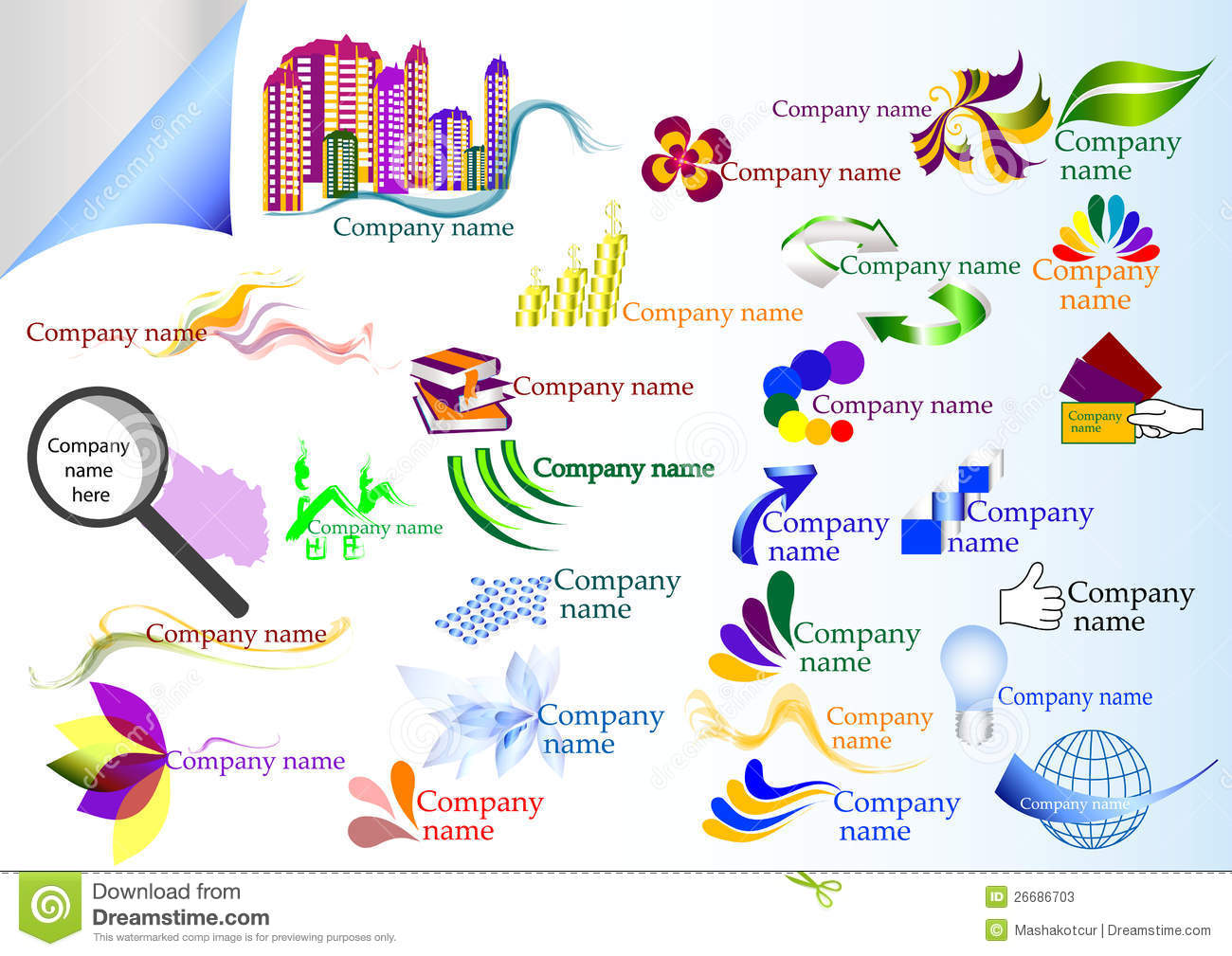 Collection Of Vector Company Labels Stock Photos - Image: 26686703