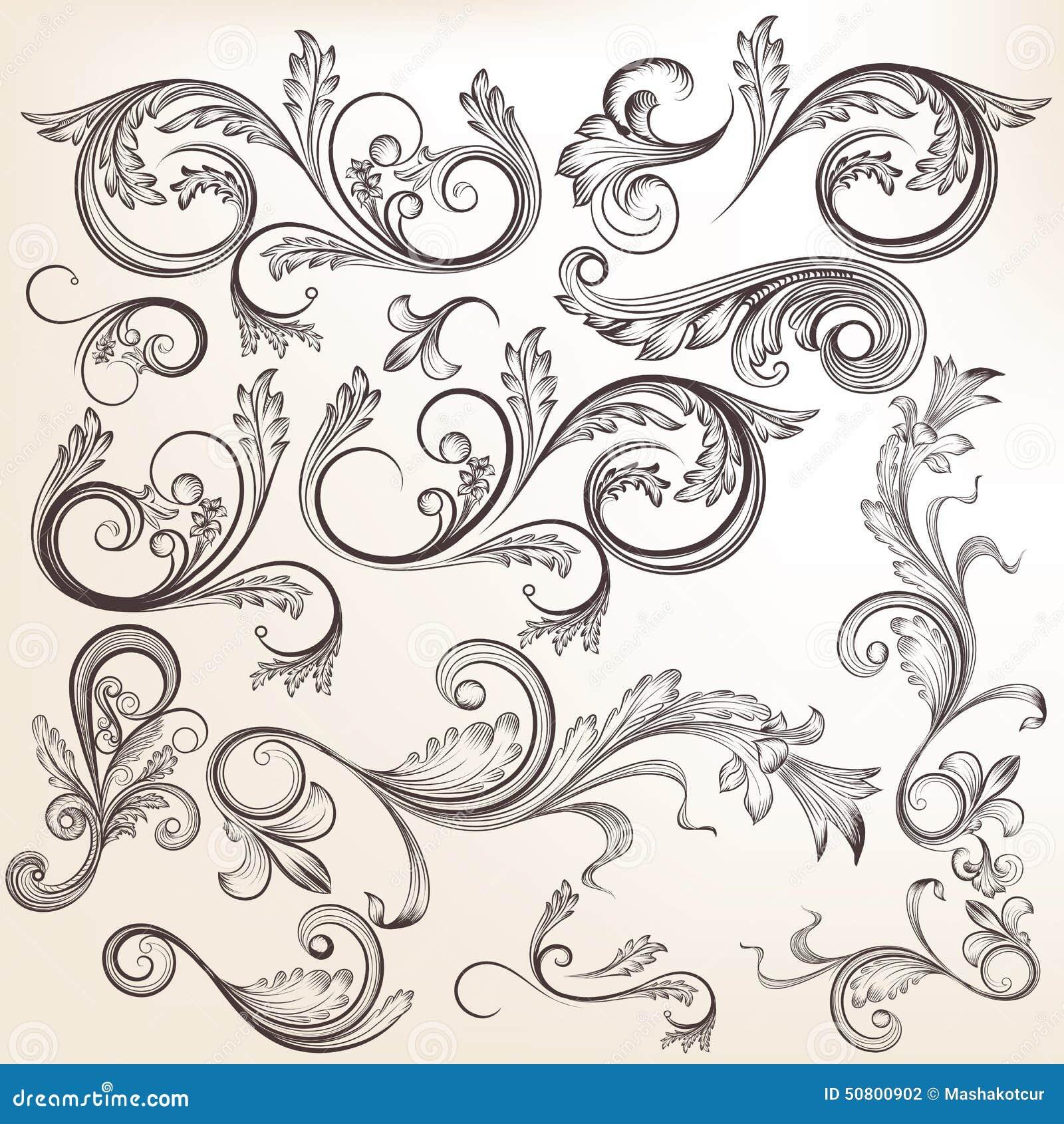 vector hand drawn calligraphic - photo #14
