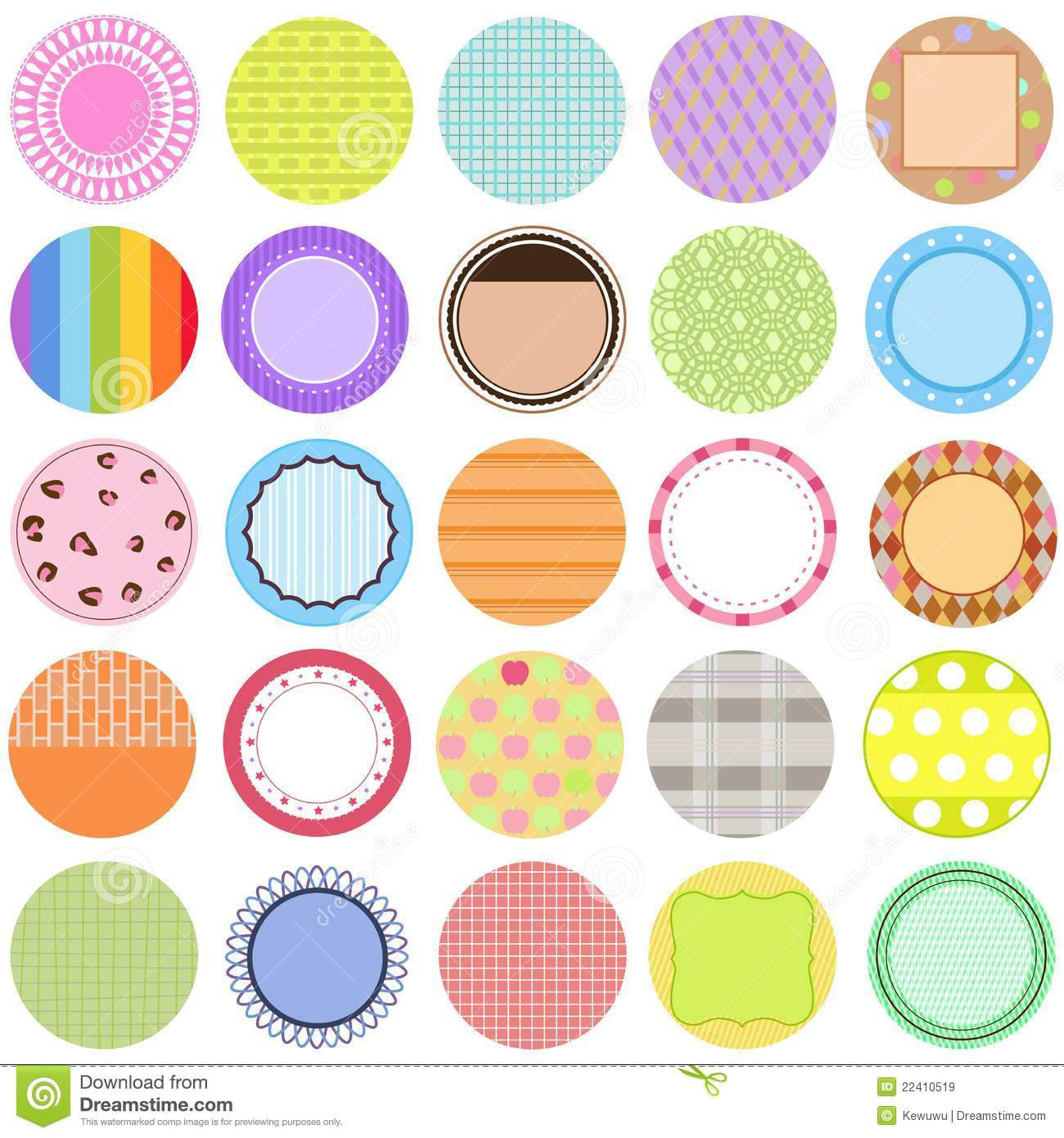 Collection Of Vector Labels In Pastel Color Royalty Free Stock Images ...