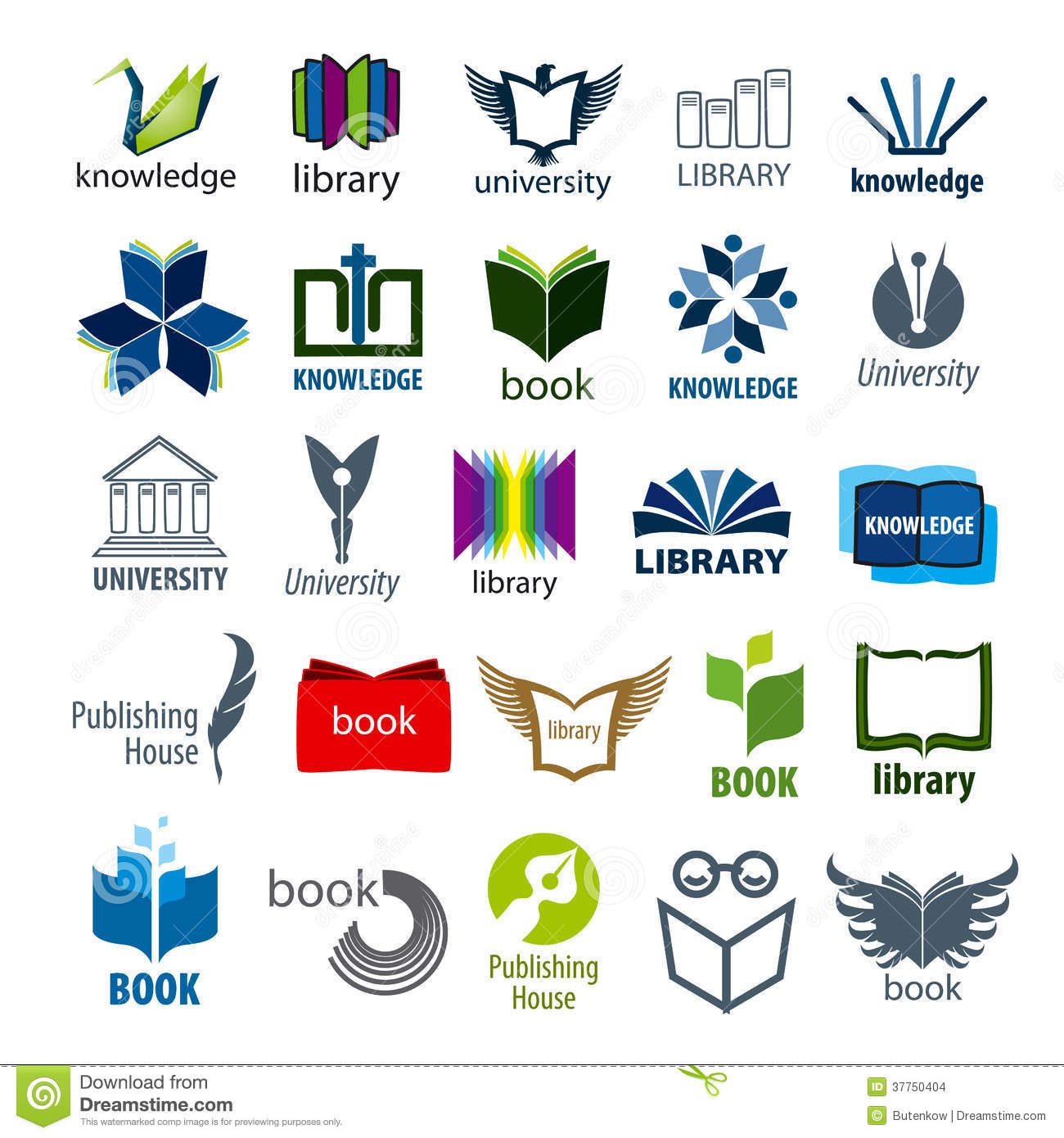 Book logos stock vector image 42714029 - Collection Of Vector Logos Books And Pens Stock Images