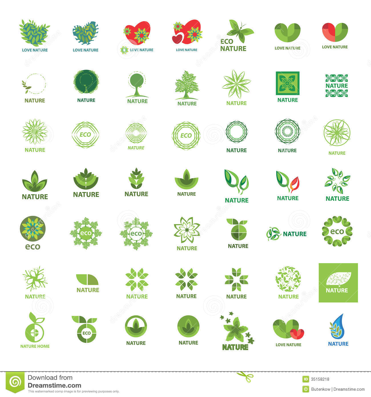 ... Logos Eco And Nature Royalty Free Stock Photos - Image: 35158218