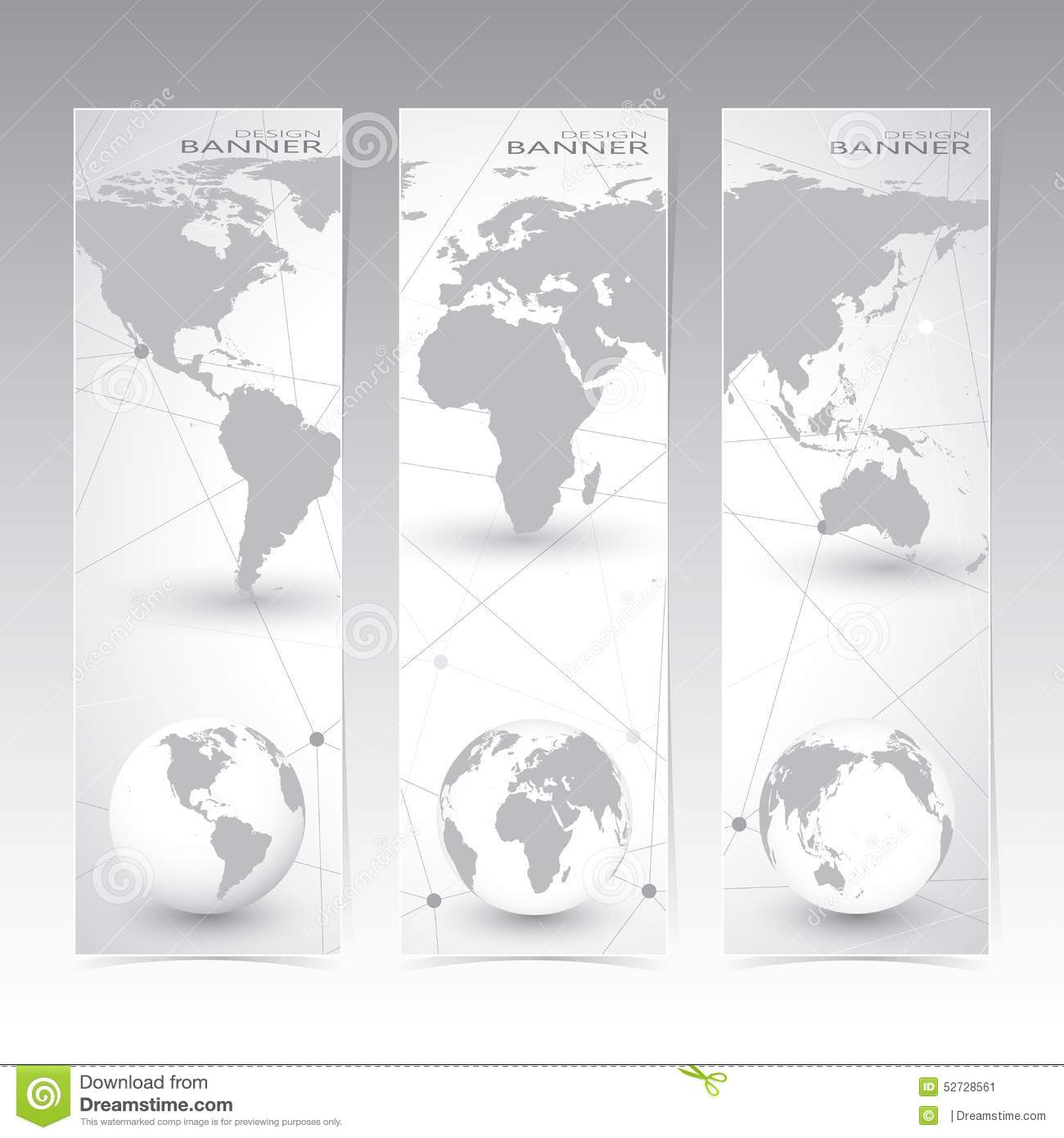 Collection vertical banner design world map and stock vector collection vertical banner design world map and gumiabroncs Choice Image