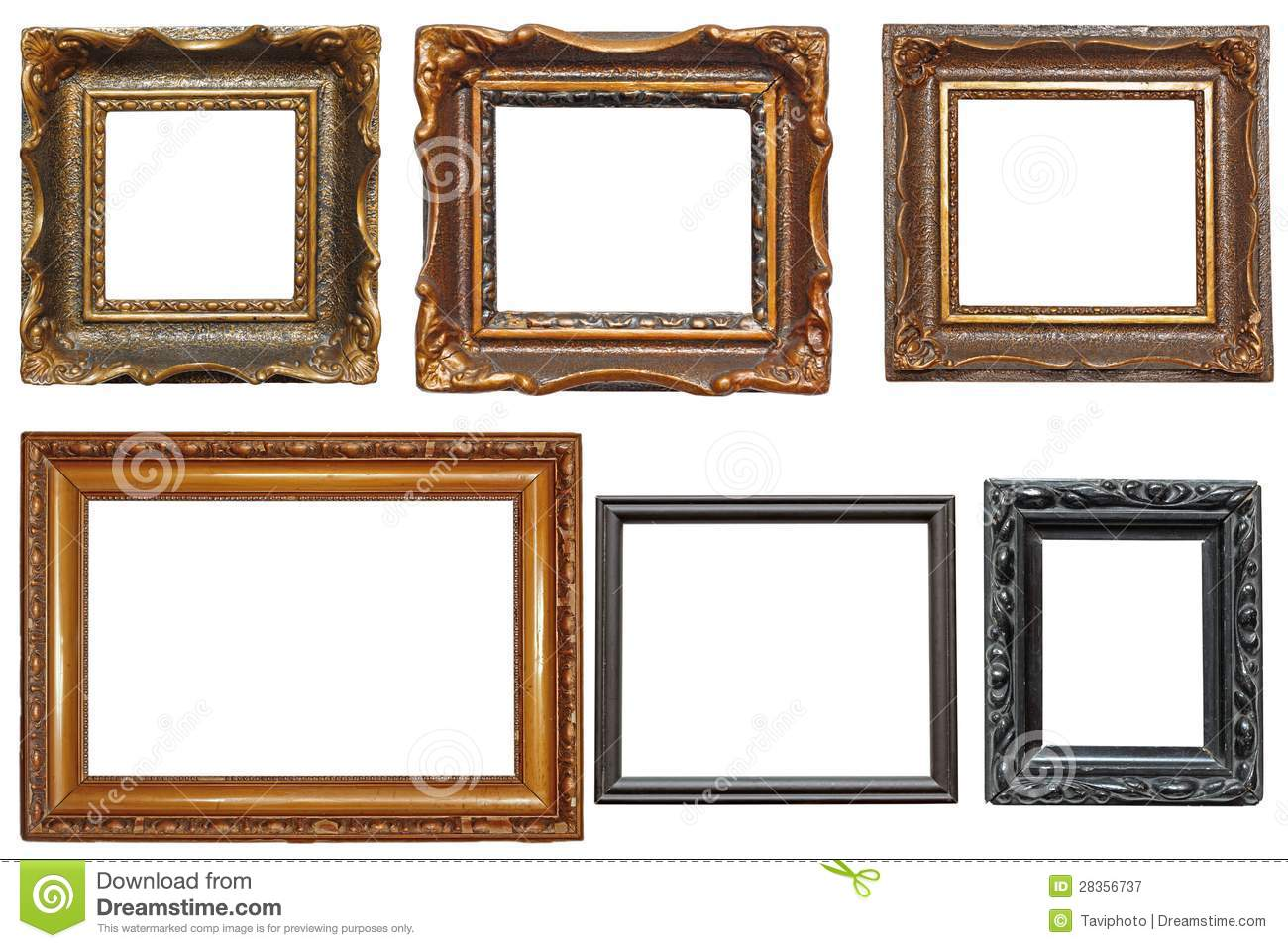 Collection Of Very Old Painting Frames Stock Image - Image of ...