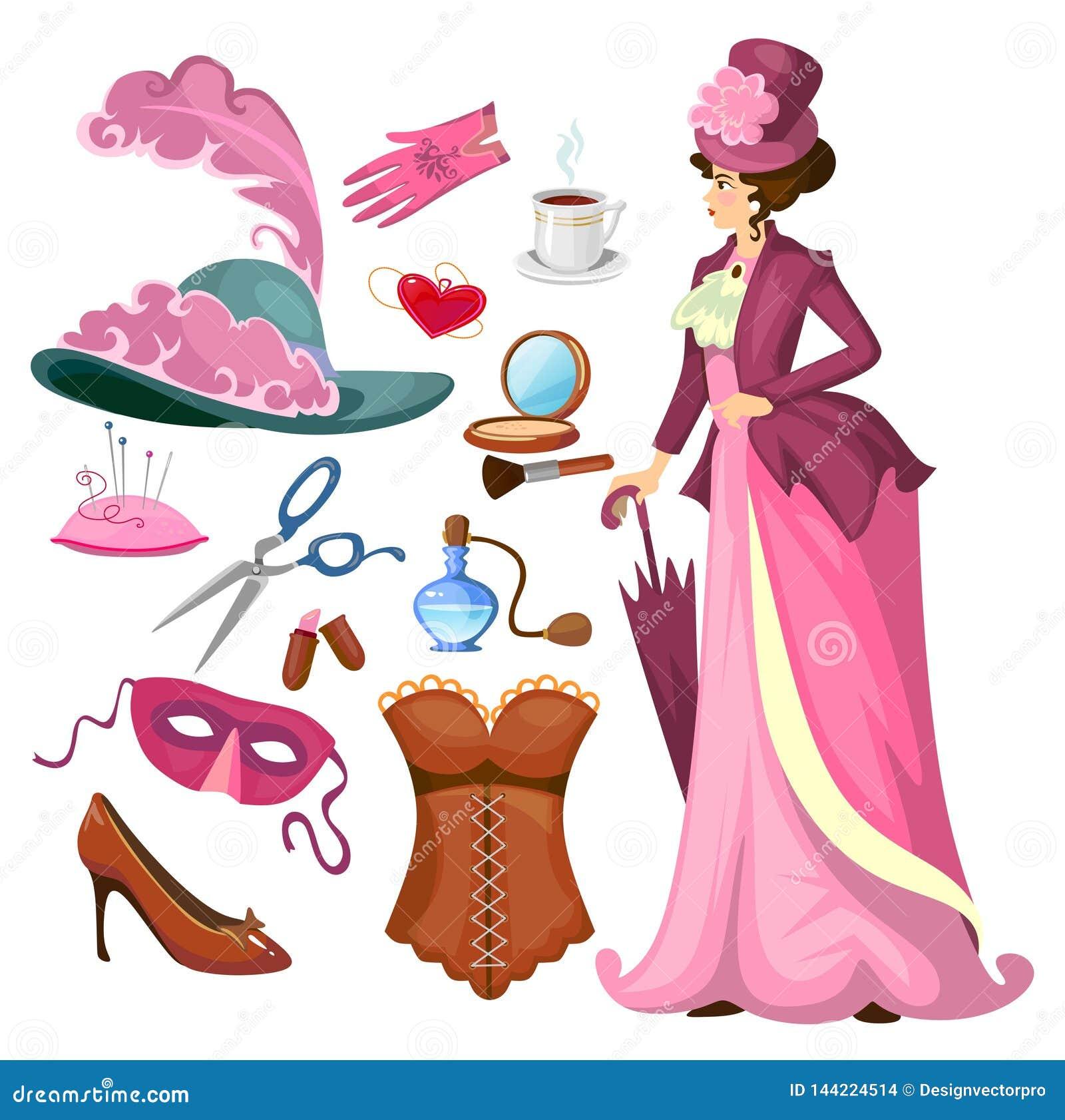 the latest 02339 252d4 Collection Victorienne De Mode De Dame Dans Le Style De ...