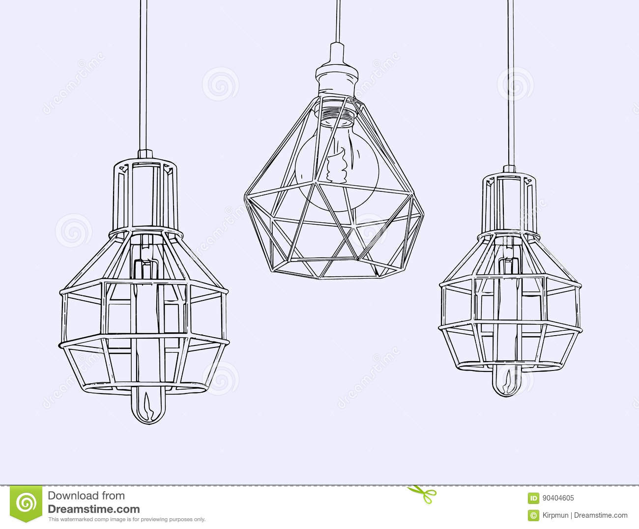 Download Collection Of Vintage Symbols Light Bulbs And LampsEdison Stock Vector