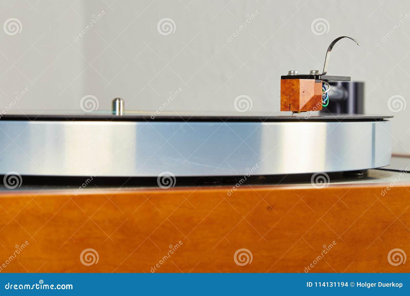 Turntable On A Nice Simple Shelf Stock Photo - Image of