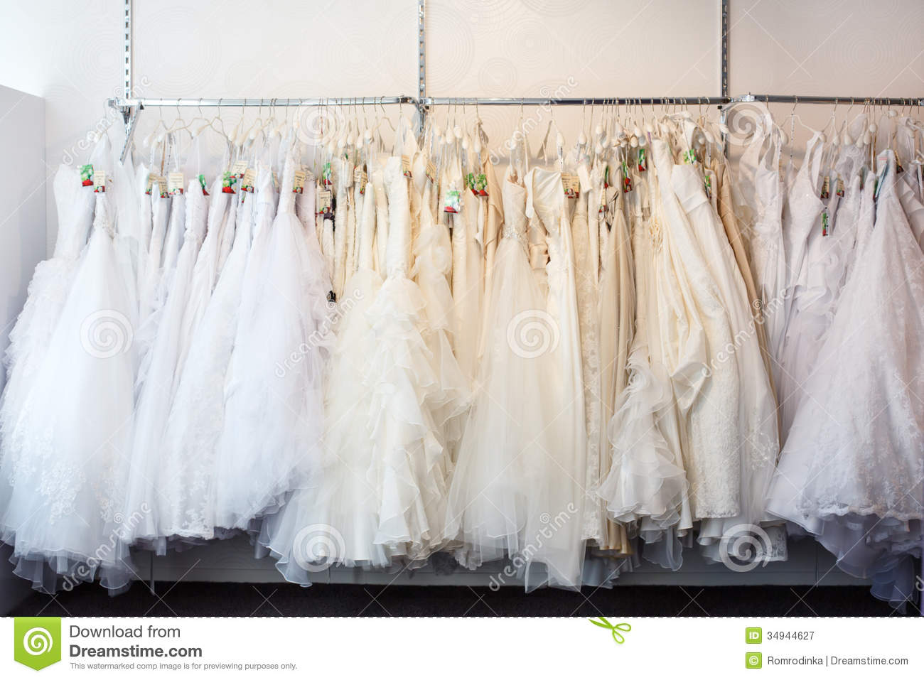 Collection of wedding dresses in the shop stock image image royalty free stock photo download collection of wedding dresses in the shop ombrellifo Images