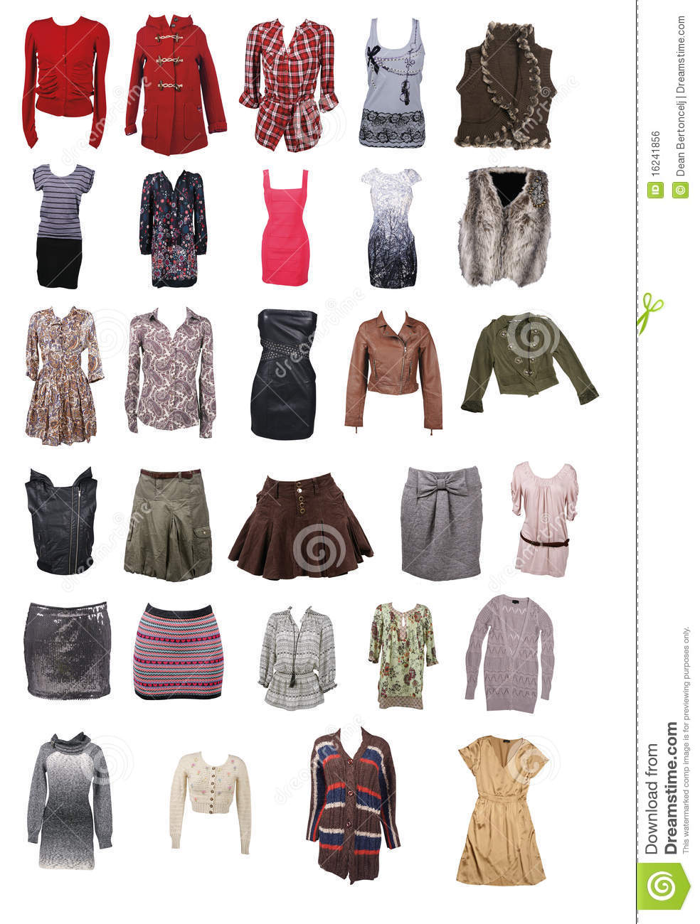 Collection Of Woman Clothing Stock Photo Image Of Casual