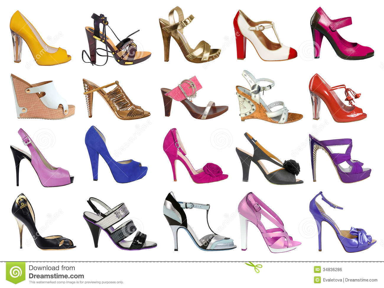Collection Of Women S Shoes Stock Photo Image Of Out Beautiful 34836286