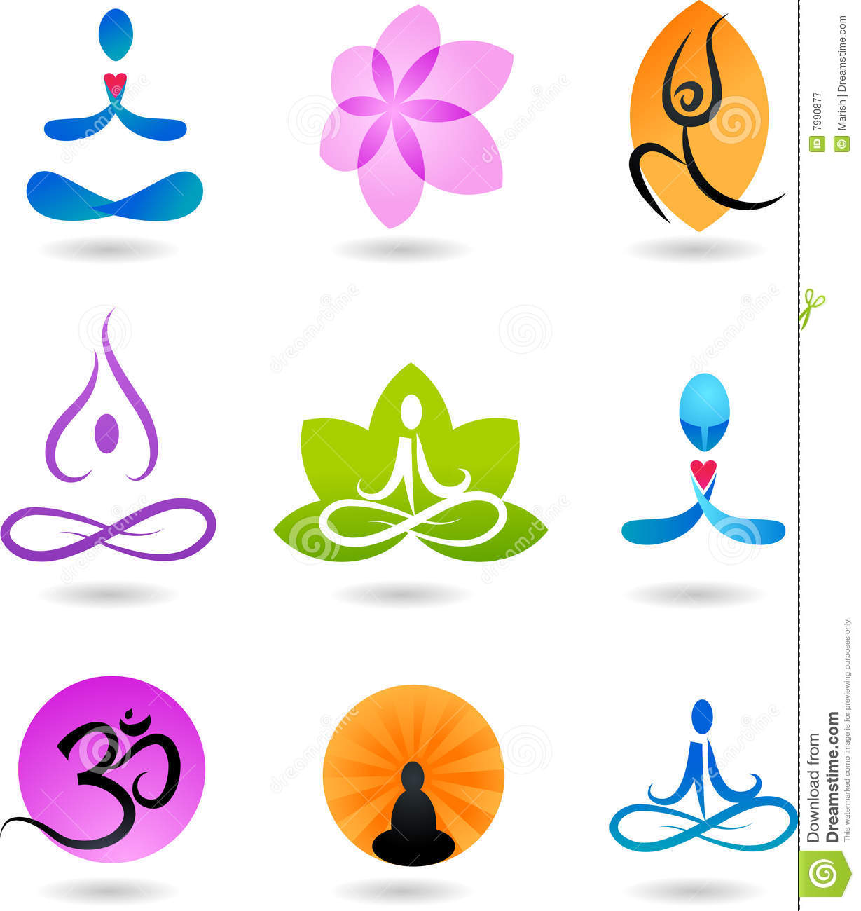Collection of zen icons vector illustration royalty free stock photography - Symbole zen attitude ...