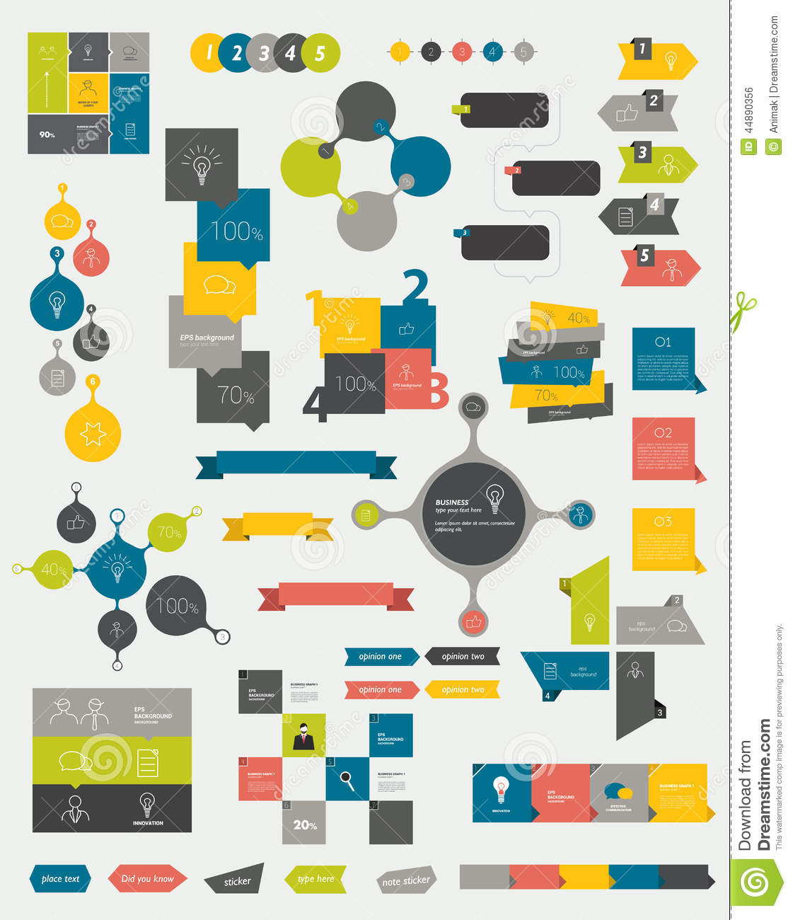 Collections of info graphics flat design diagrams stock vector collections of info graphics flat design diagrams ccuart Images