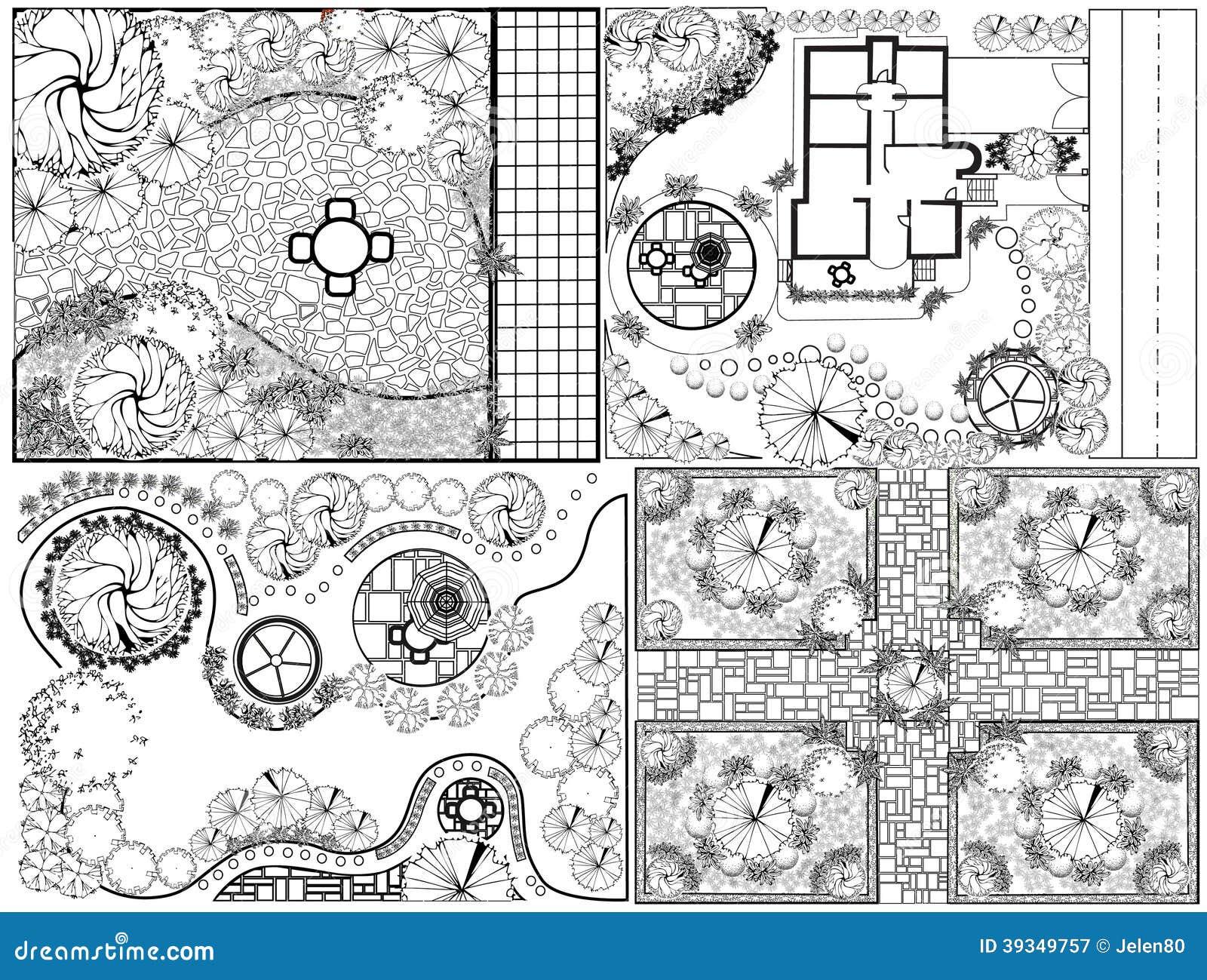 Collections od landscape plan stock illustration image 39349757 for Average cost of landscape design plan