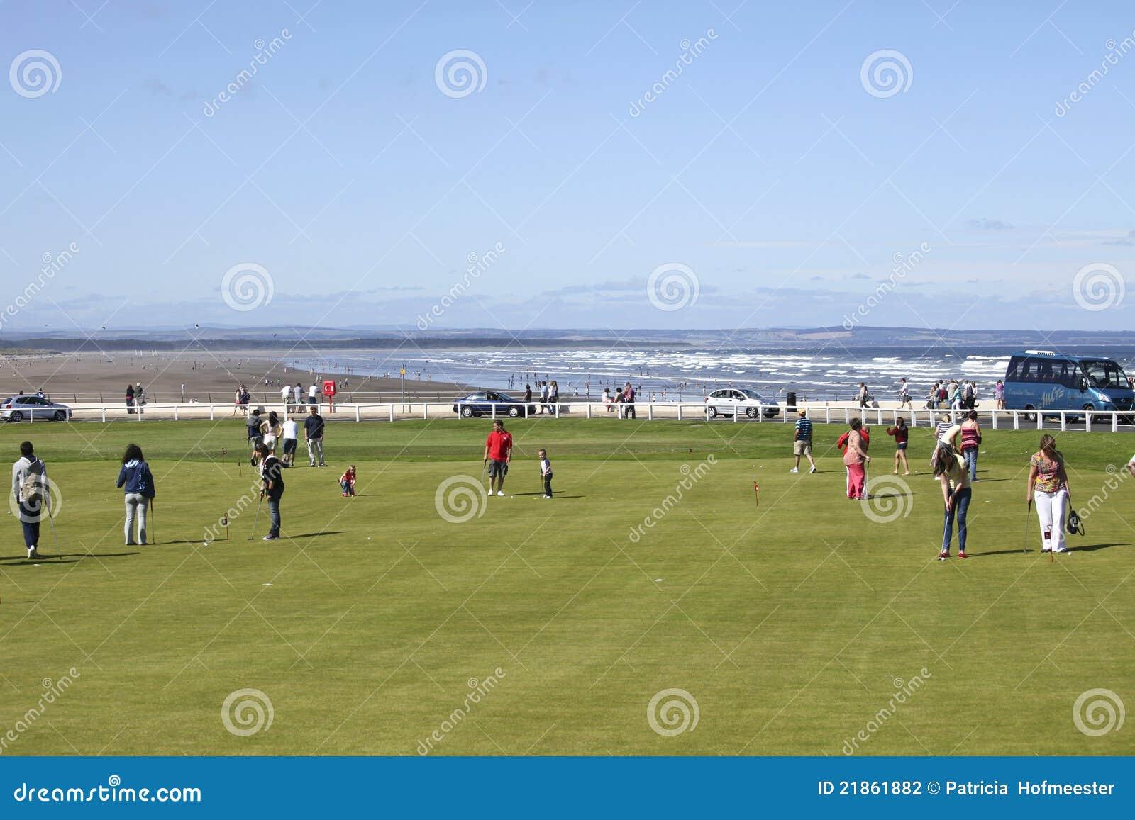 Collegamenti di golf della st andrews vicino alla spiaggia - Alla colorazione della spiaggia ...