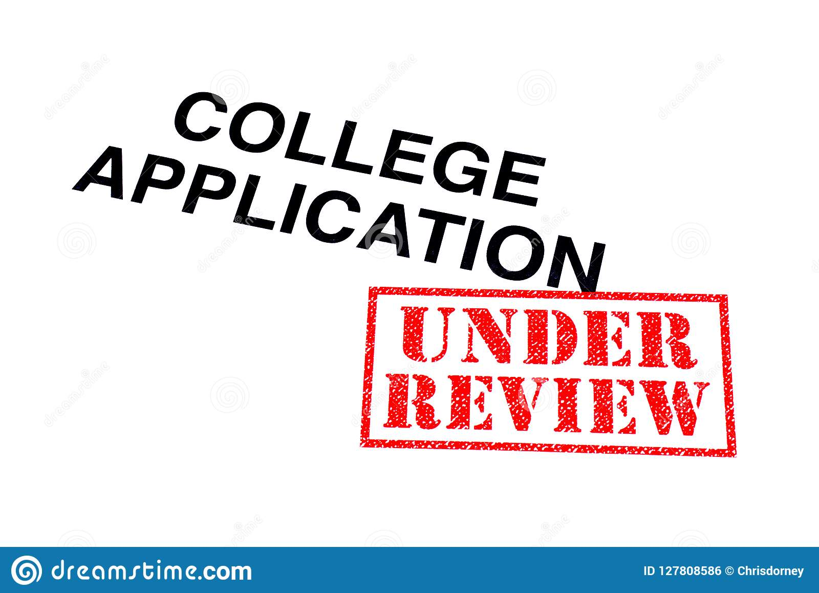 College Application Under Review Stock Photo - Image of
