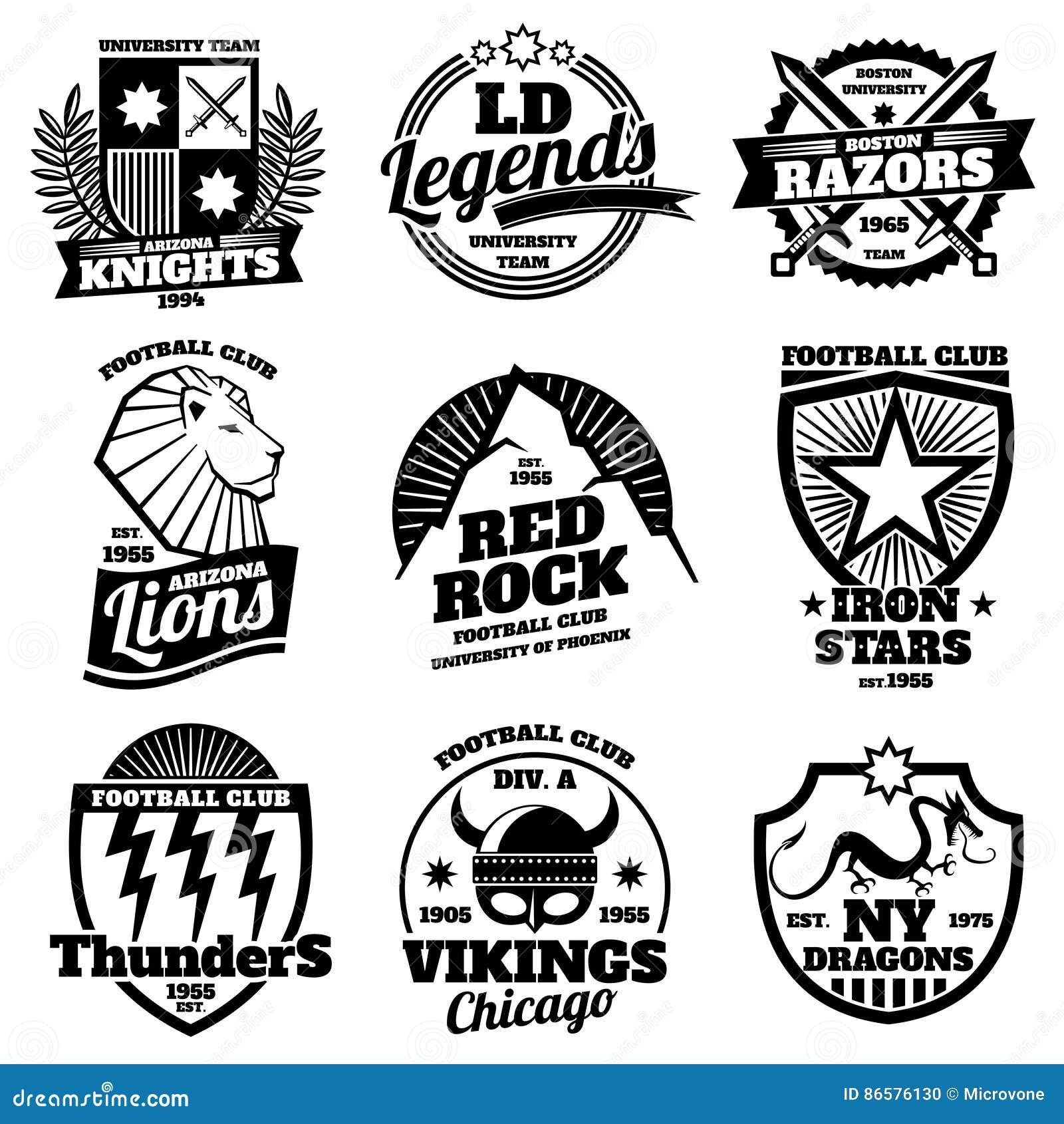 Shirt design vector pack - College Athletic Labels Varsity Emblems Vintage Sports Teams Badges University T Shirt Design