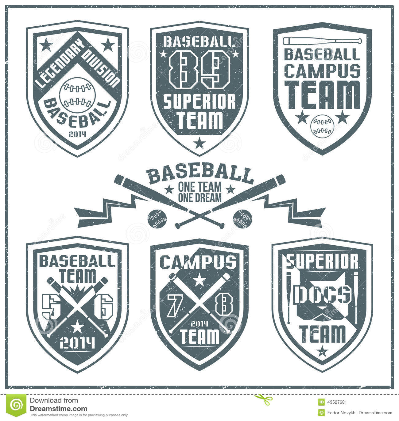 college baseball team emblem stock vector image 43527681