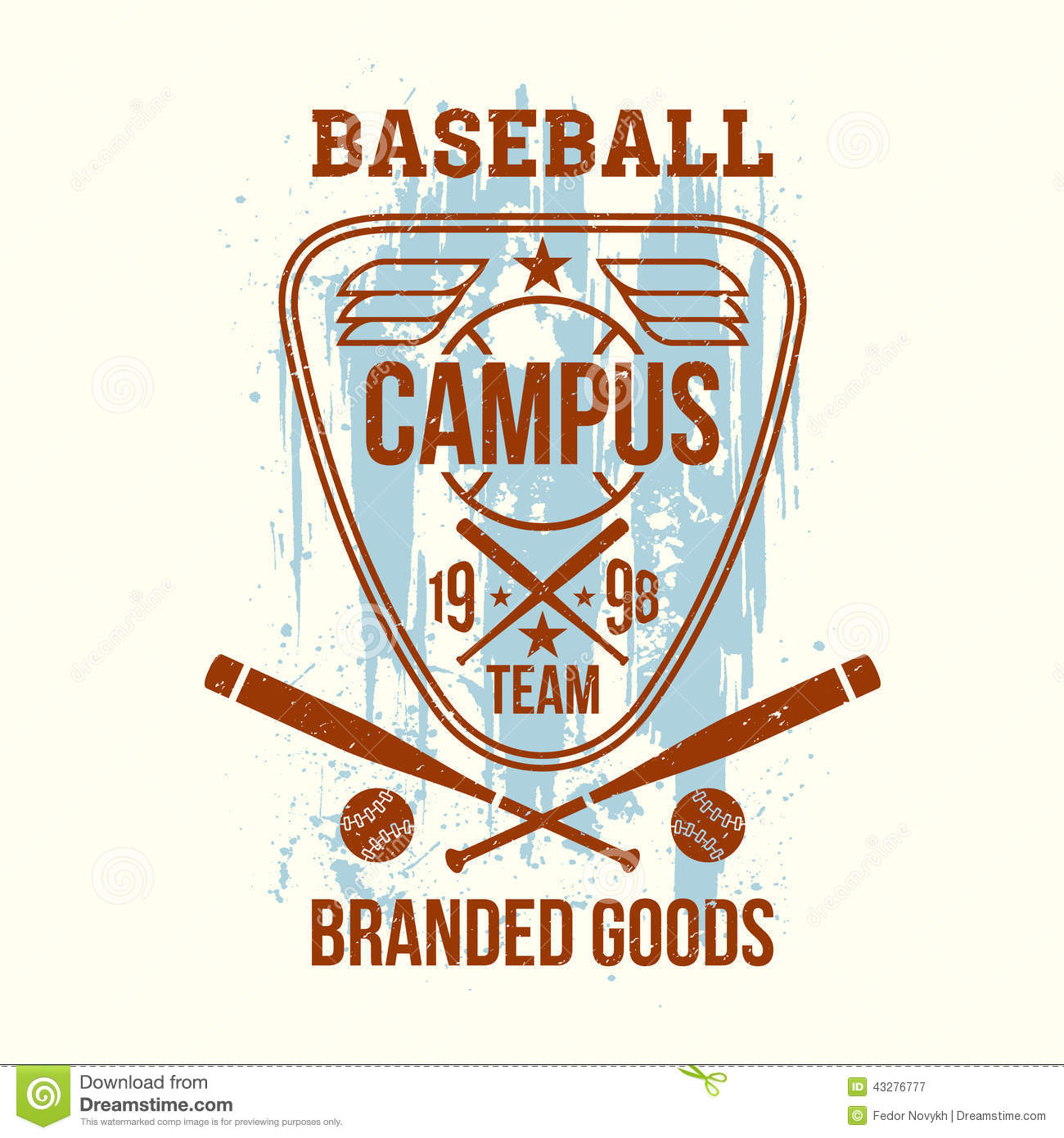 Design t shirt baseball - Baseball College Design Emblem Print Shirt