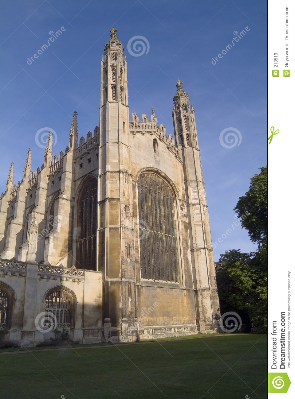 College Chapel, Cambridge del re. Verso est parte anteriore