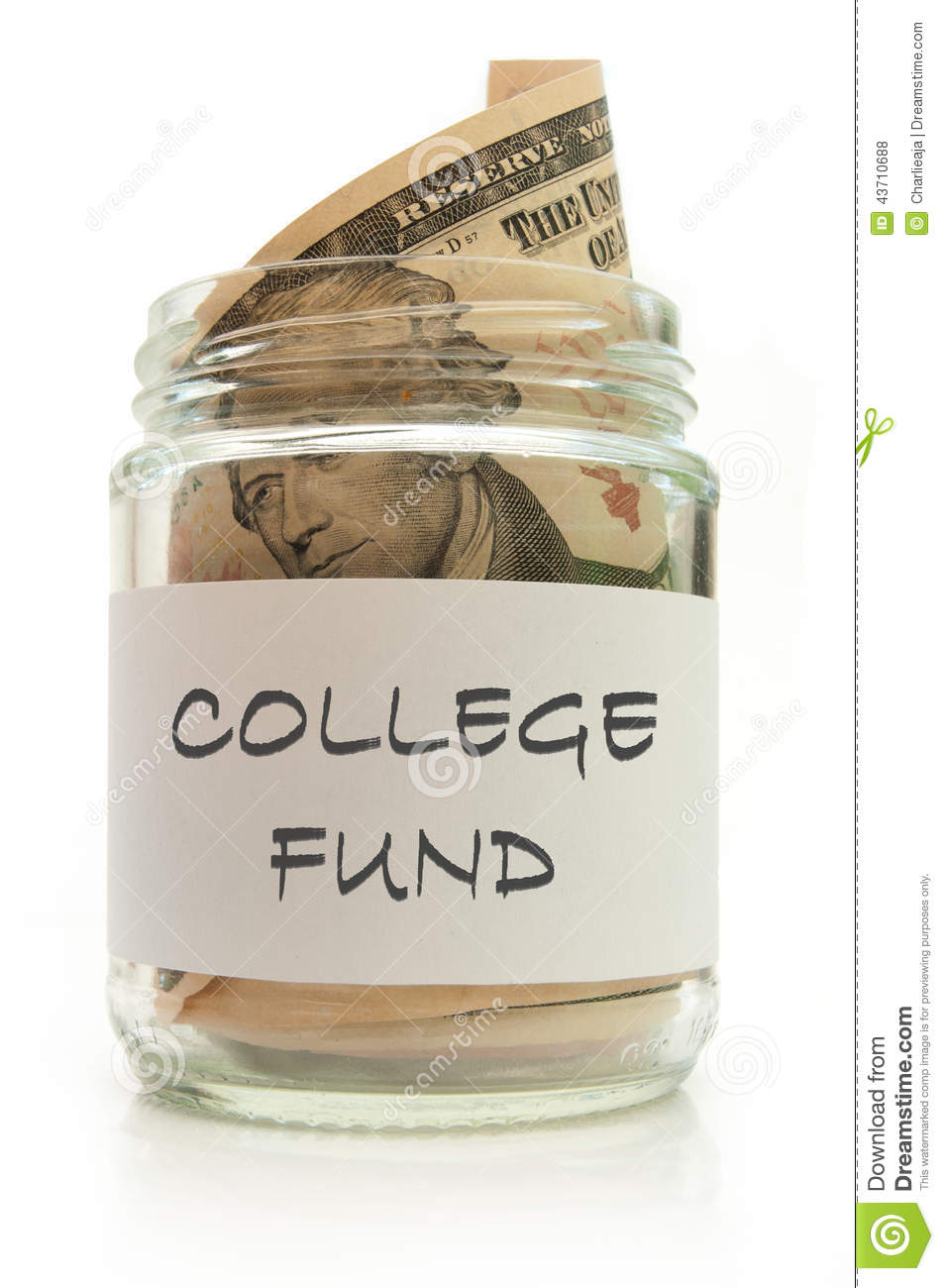 College Fund Stock Photo Image 43710688
