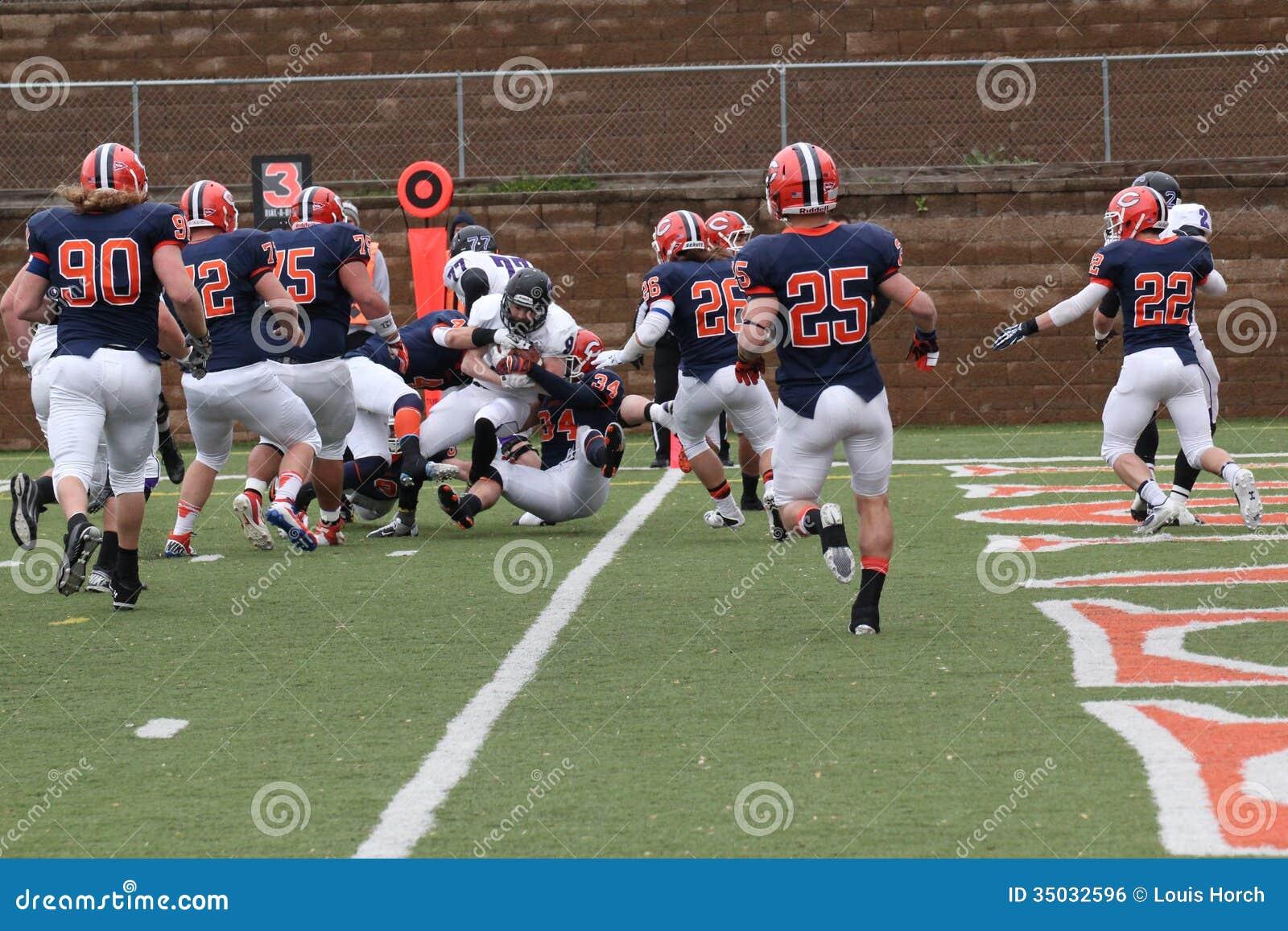 College NCAA DIV III Football Editorial Photo - Image ...