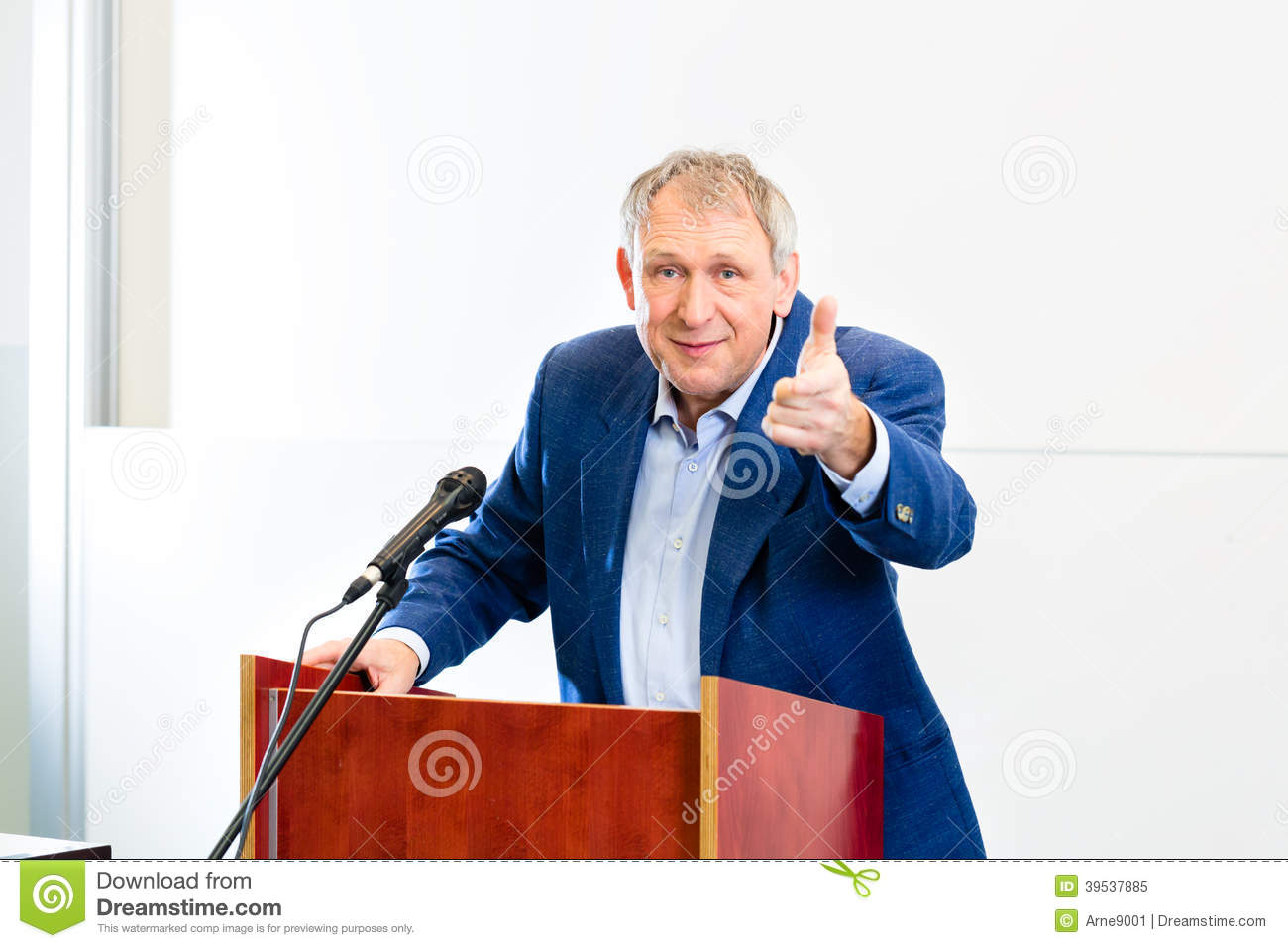 College Professor Giving Lecture Stock Photo Image 39537885