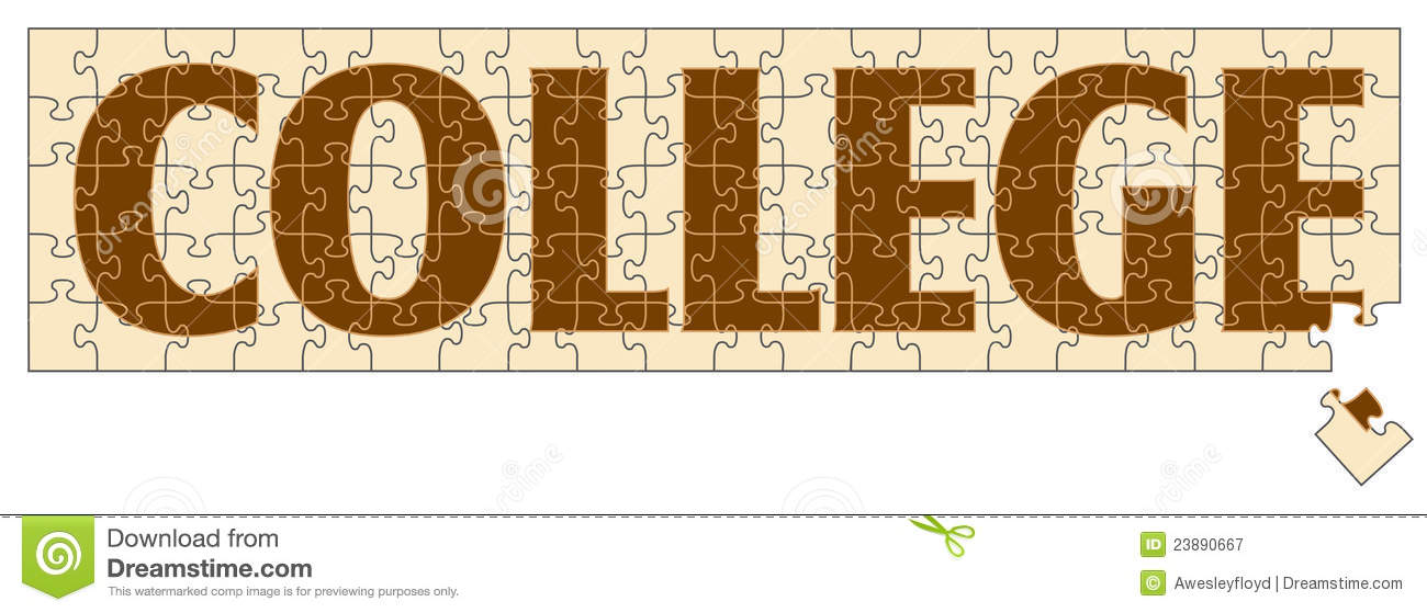 College Puzzle Royalty Free Stock Photography - Image ...