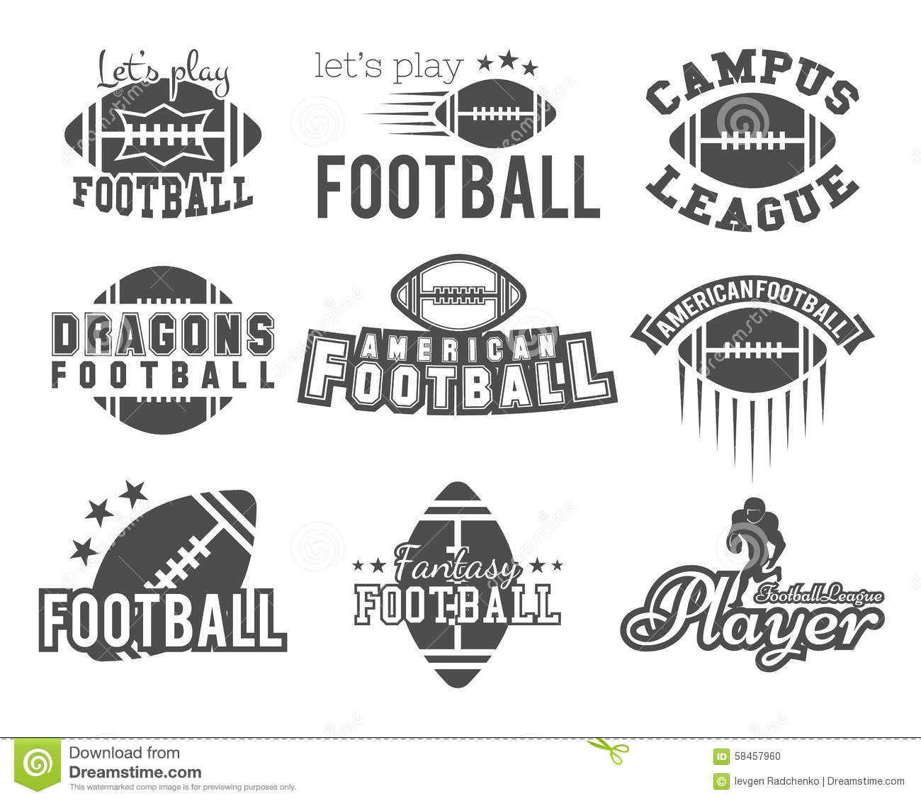 College Rugby And American Football Team College Stock: american football style t shirts