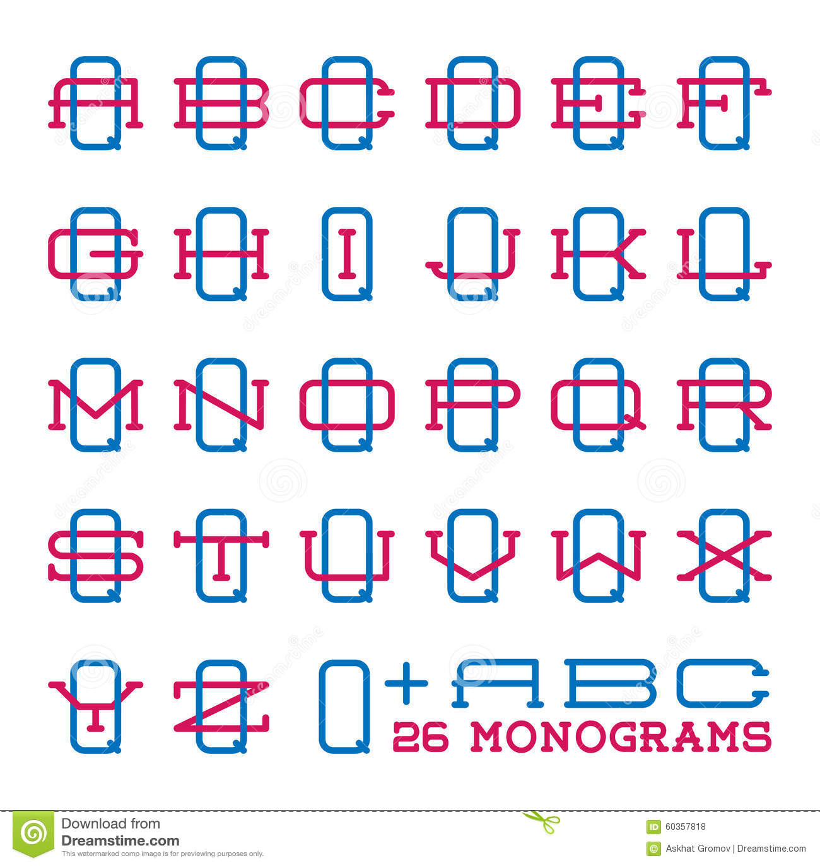 Alphabet college font template vector illustration