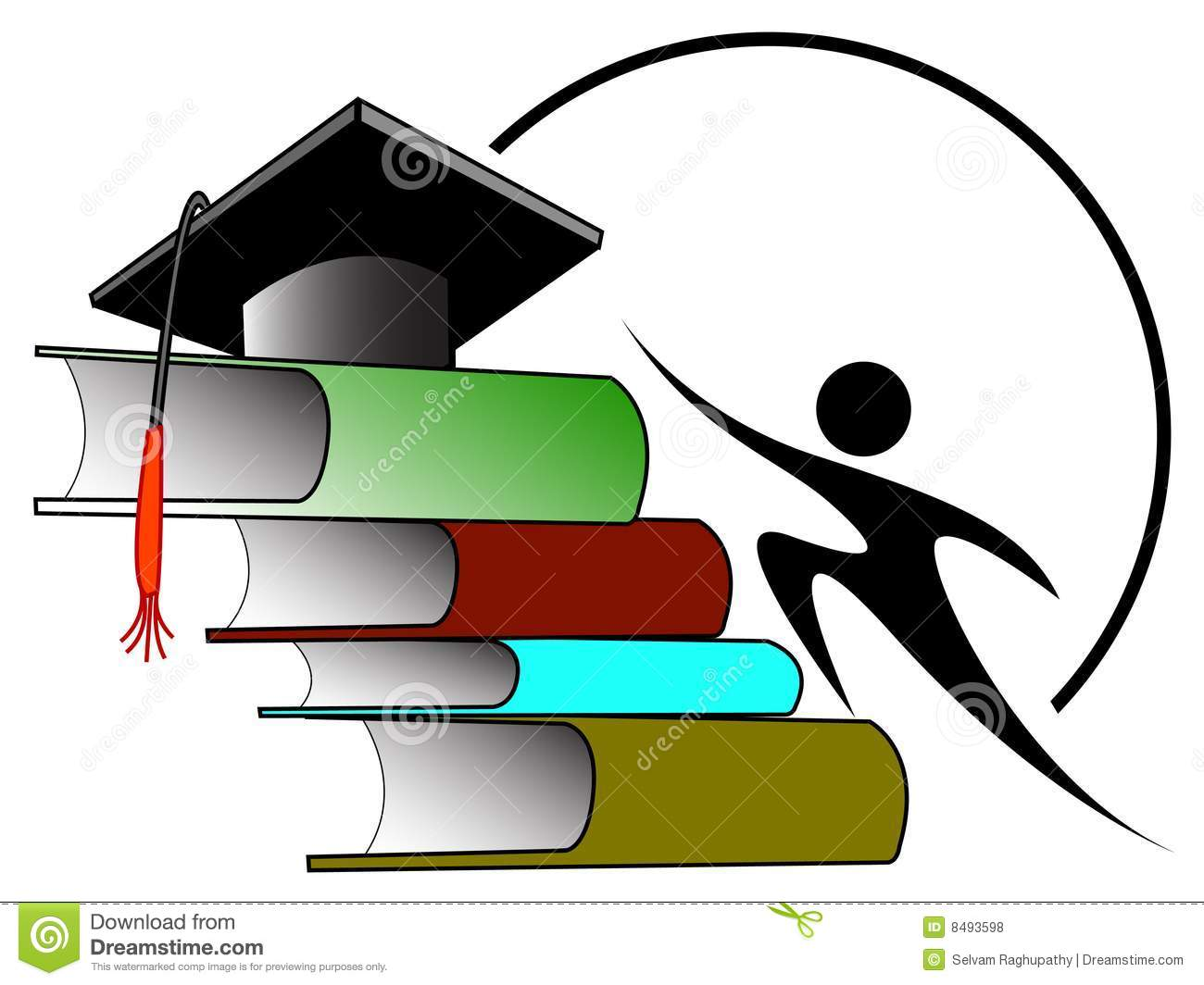 College student with books against purple abstract background   Stock Image Society