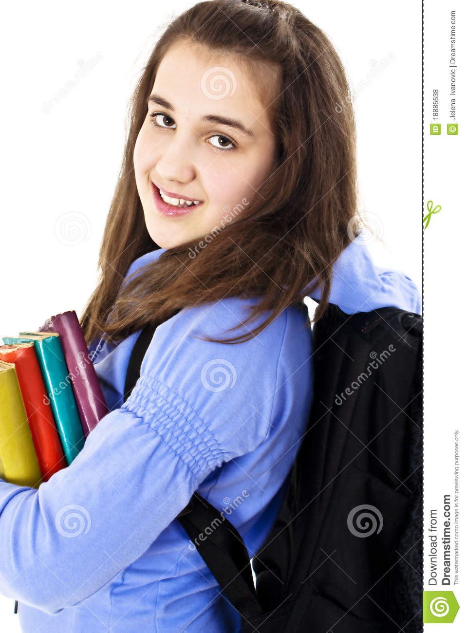 College Student With Backpack And Books Royalty Free Stock Photos ...