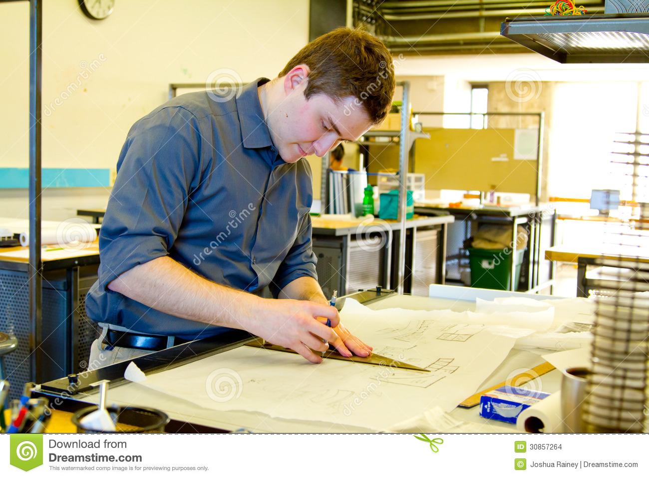 ... Architectural Drafting Colleges And Universities College Student Drafting  Architecture Stock Images Image ...