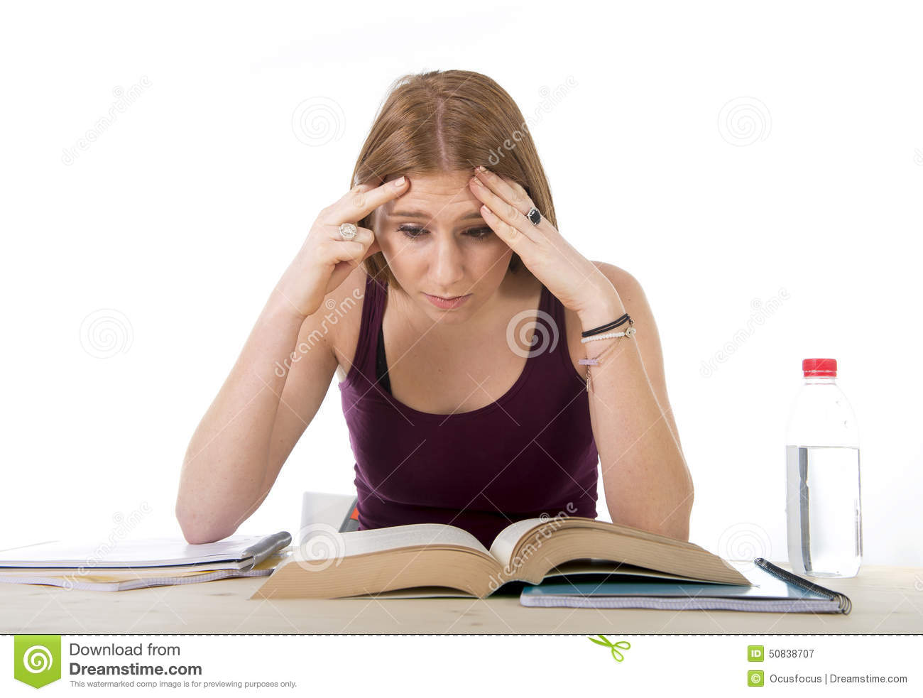 college student girl studying for university exam worried Student Sitting at Desk Clip Art Black and White Student Sitting at Desk Clip Art Black and White