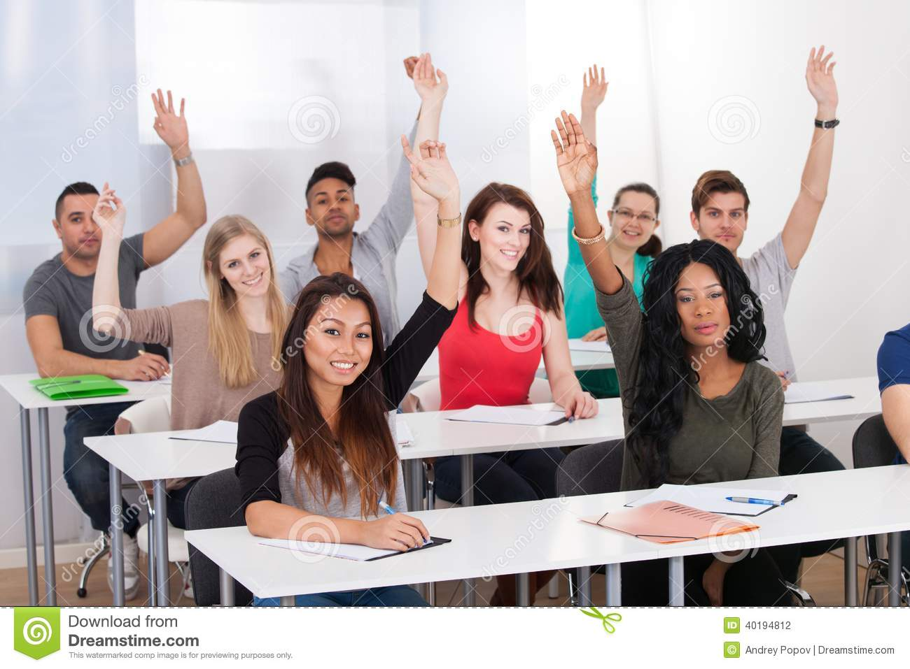 College Students In Classroom