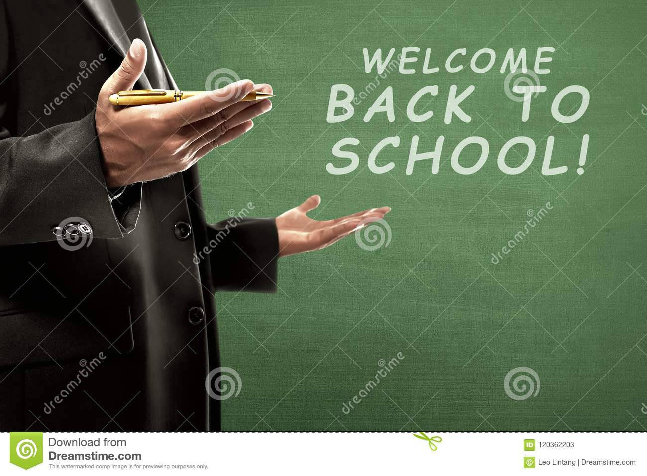 College Teacher With Back To School Message Stock Image
