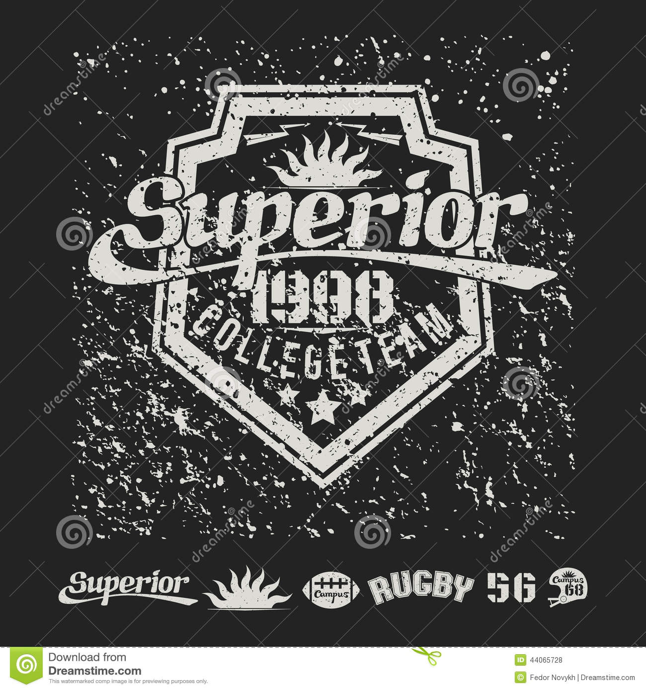 Design t shirt rugby - Design T Shirt Rugby College Team Rugby Emblem And Badges Royalty Free Stock Photos