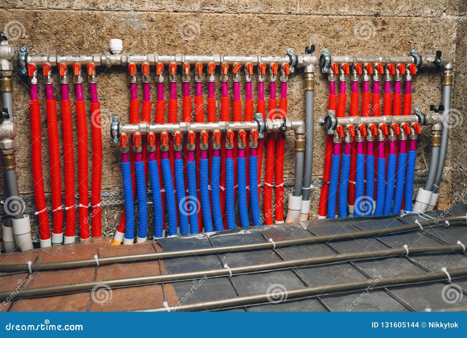 Riscaldamento A Pavimento Tubi collettore dei tubi del sistema di riscaldamento a pavimento