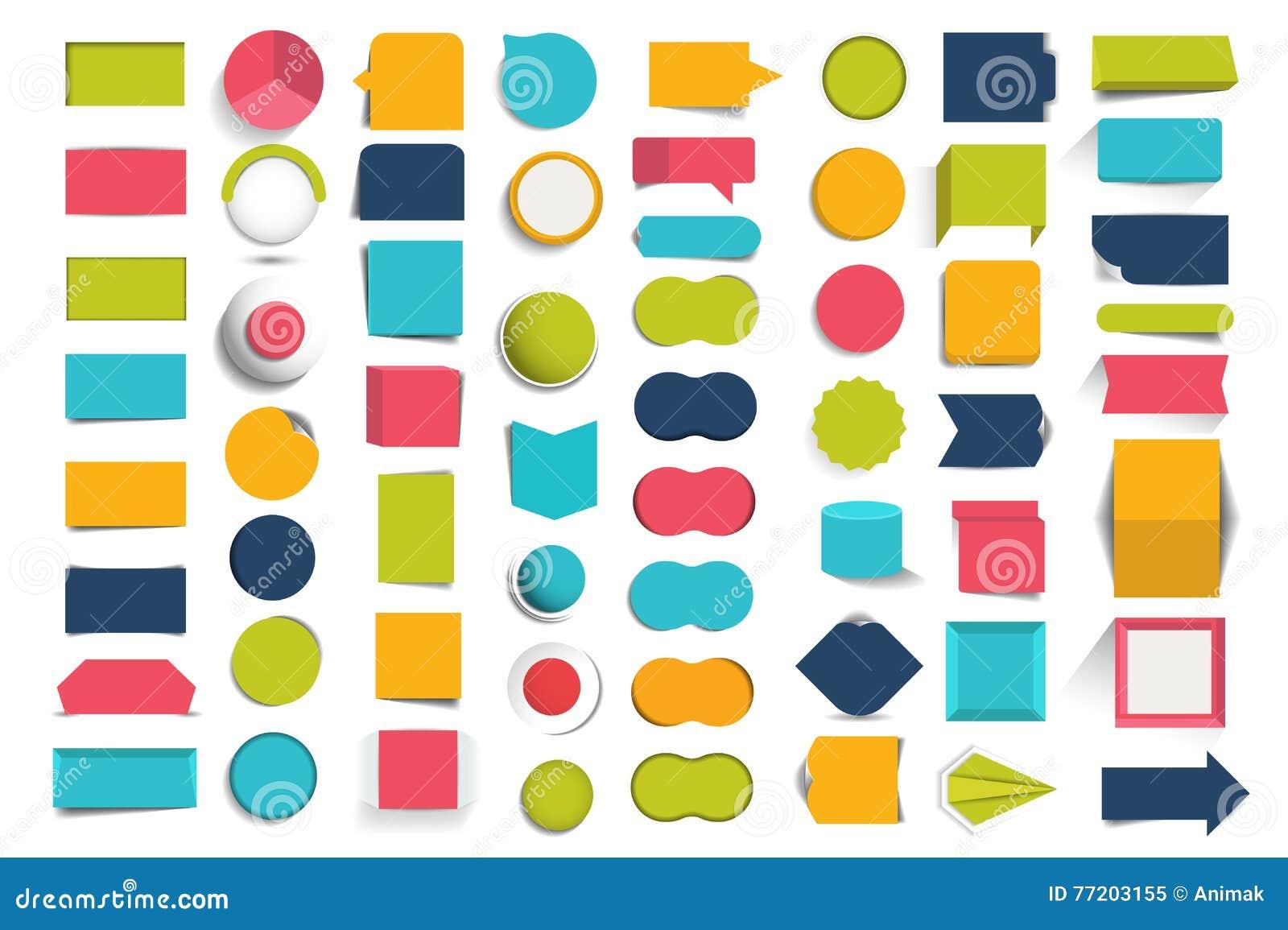 Collezioni di bottoni di progettazione di infographics, elementi