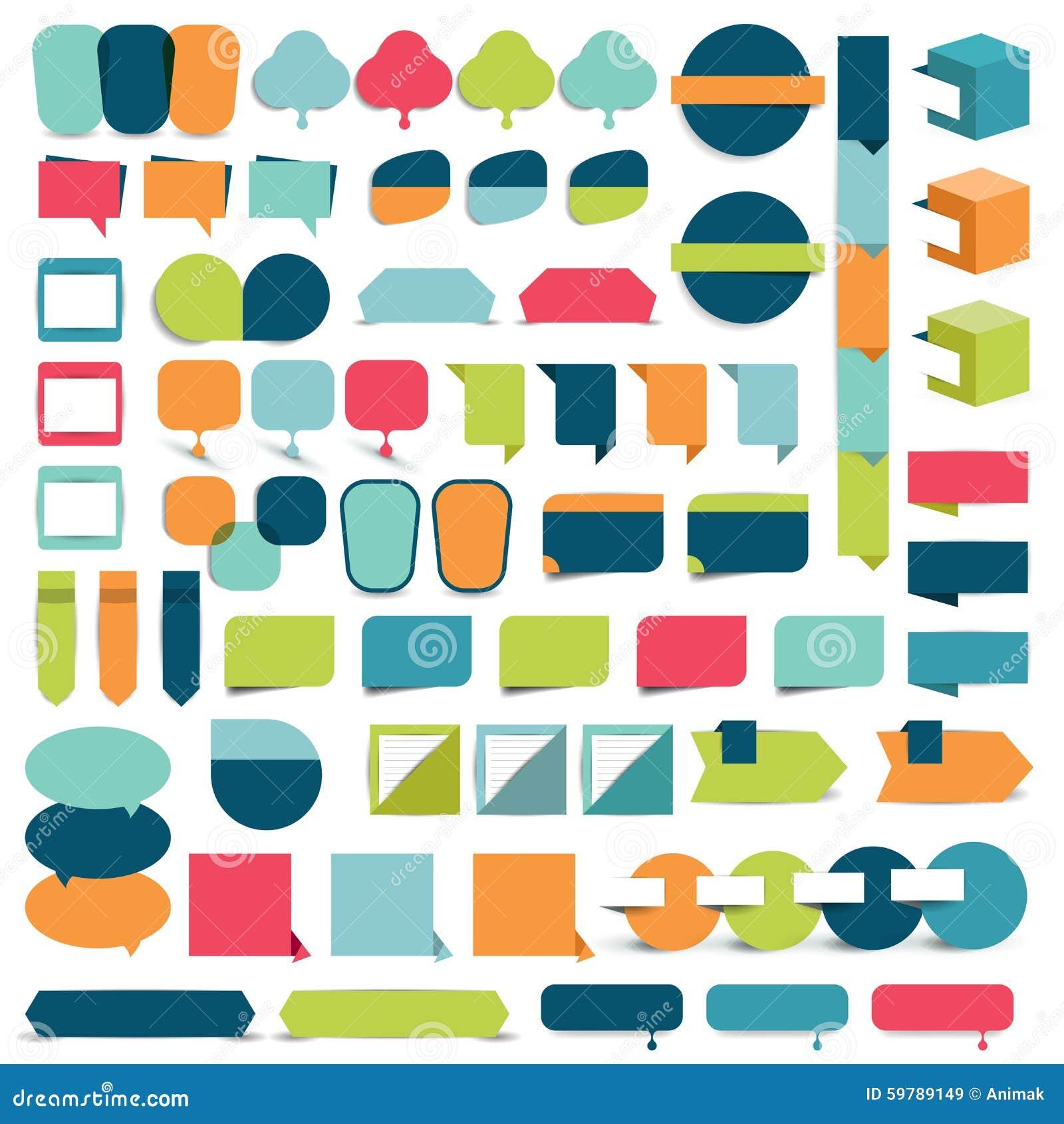 Collezioni di elementi piani di progettazione di infographics