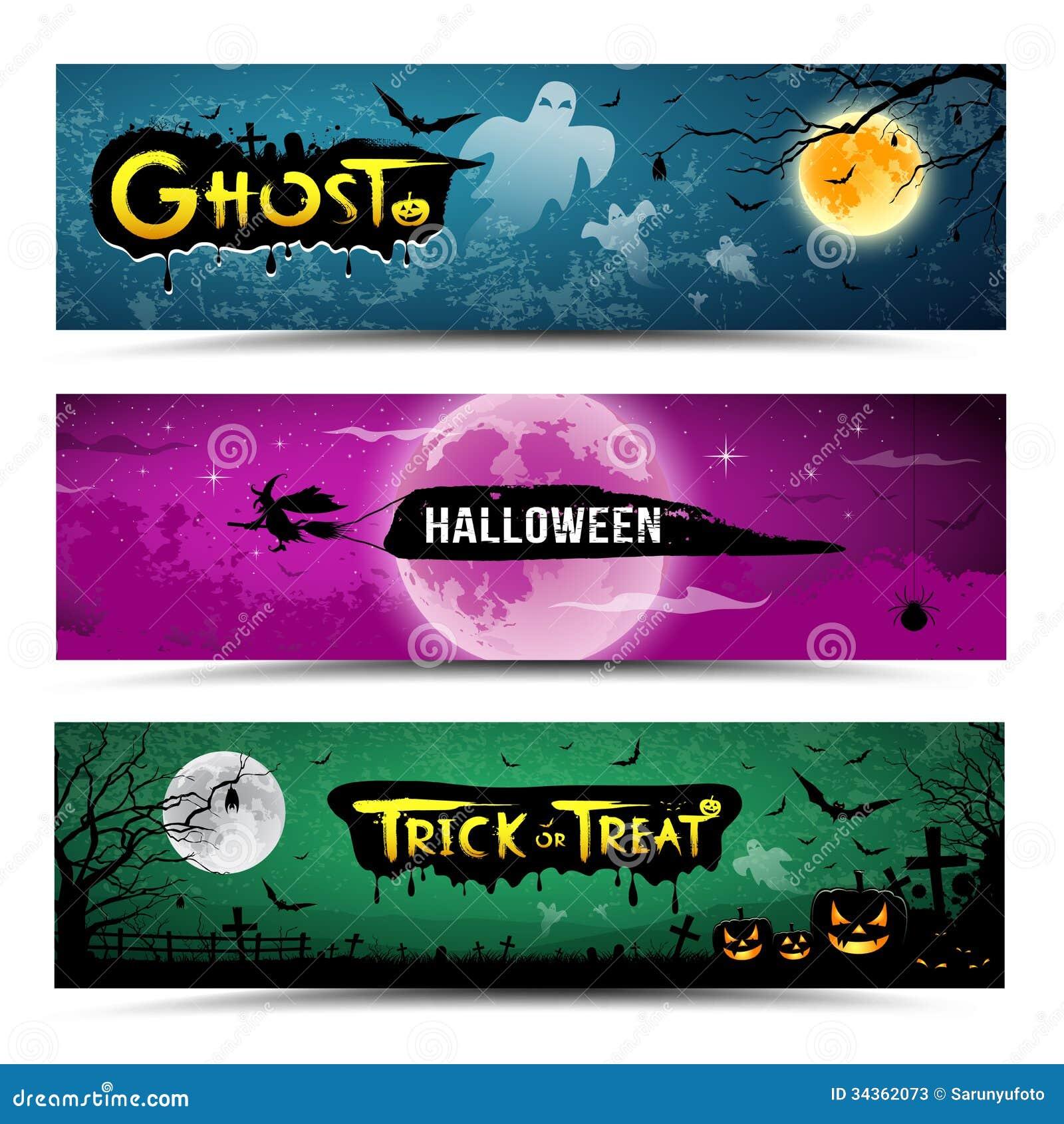 Collezioni felici delle insegne di Halloween