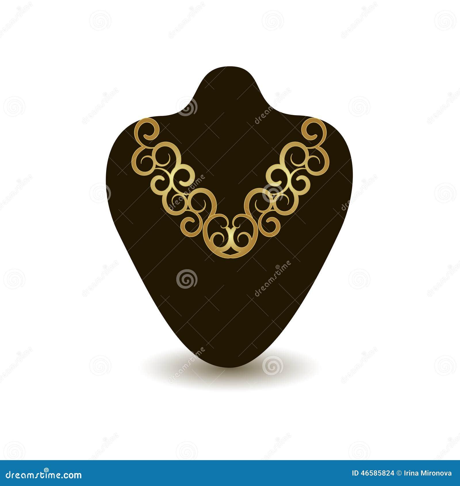 Collier d or sur un mannequin noir