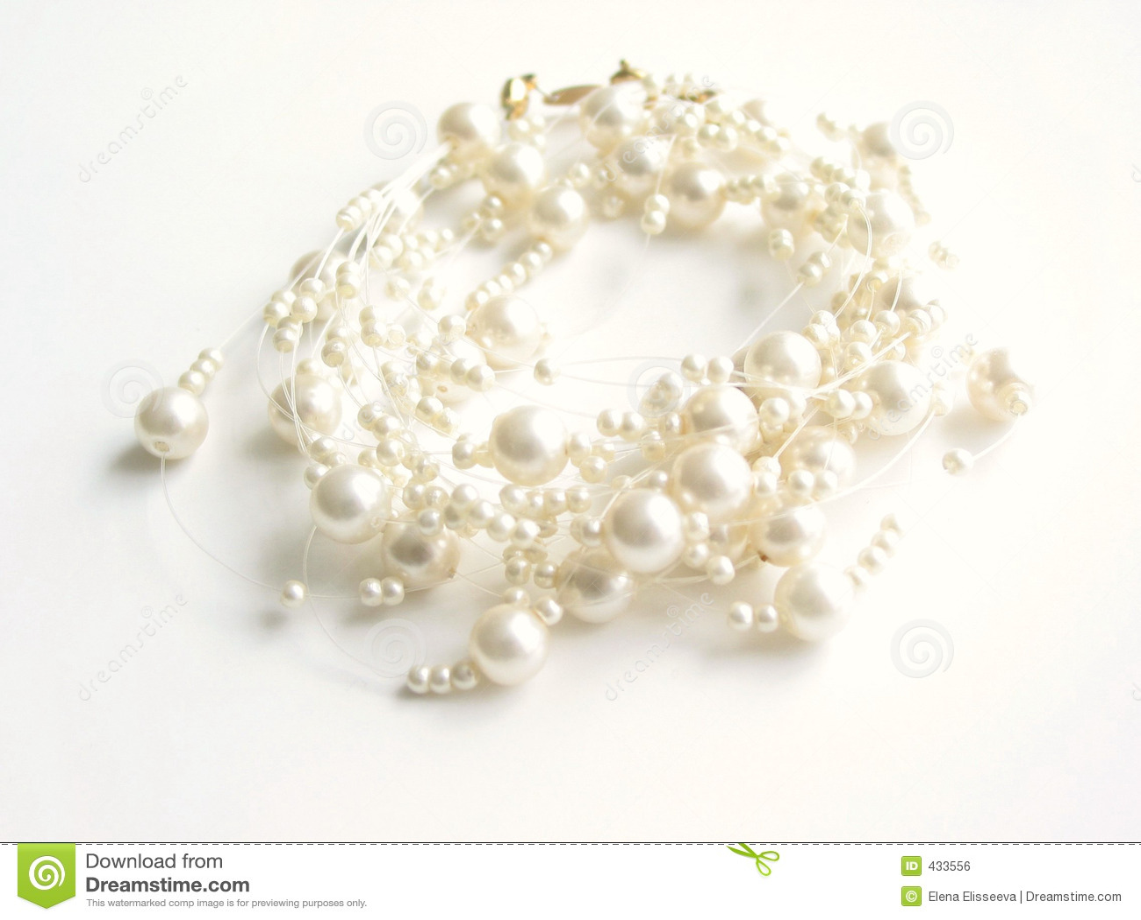 Collier de perle (clé élevée)