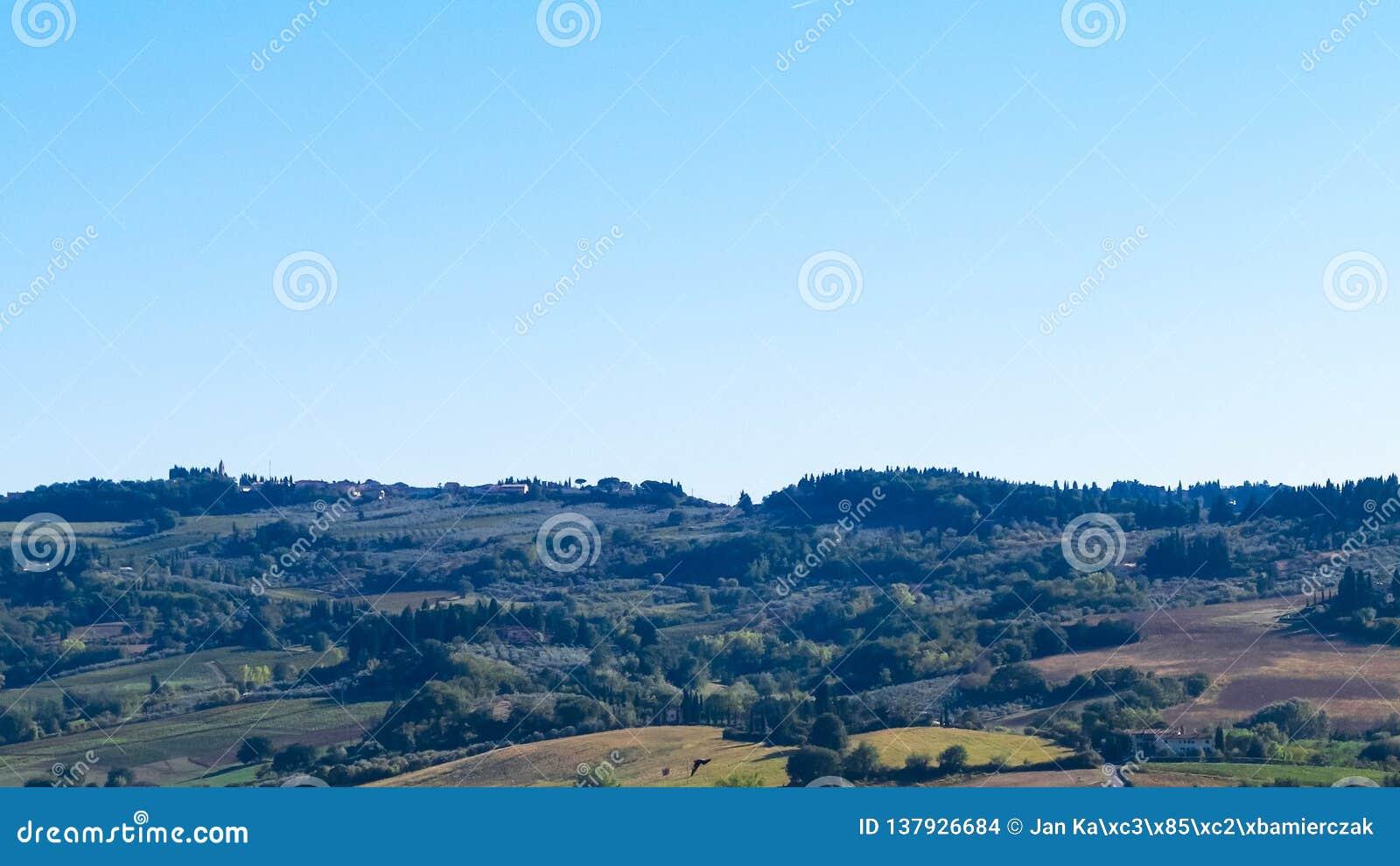 Collines de la Toscane, région de chianti, Italie