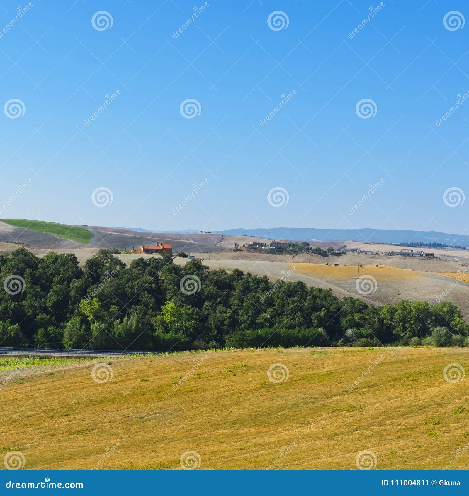 Collines labourées de la Toscane