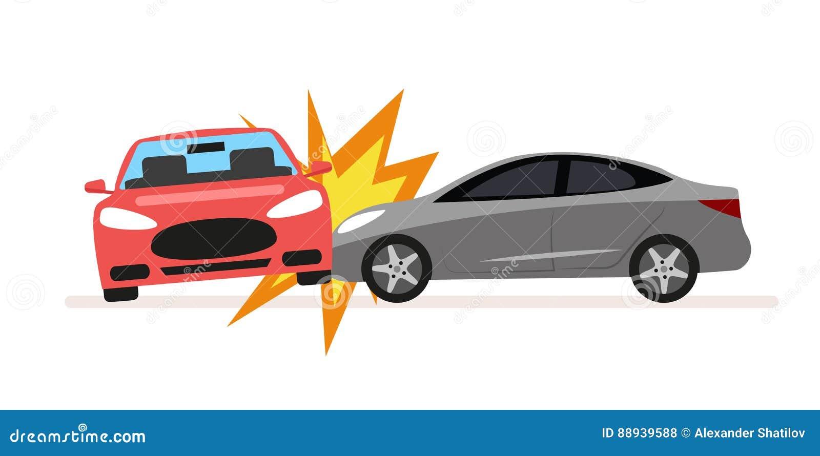 Collision des voitures Accident de voiture impliquant deux voitures Un conducteur ivre ou inconsidéré a causé un accident de la c