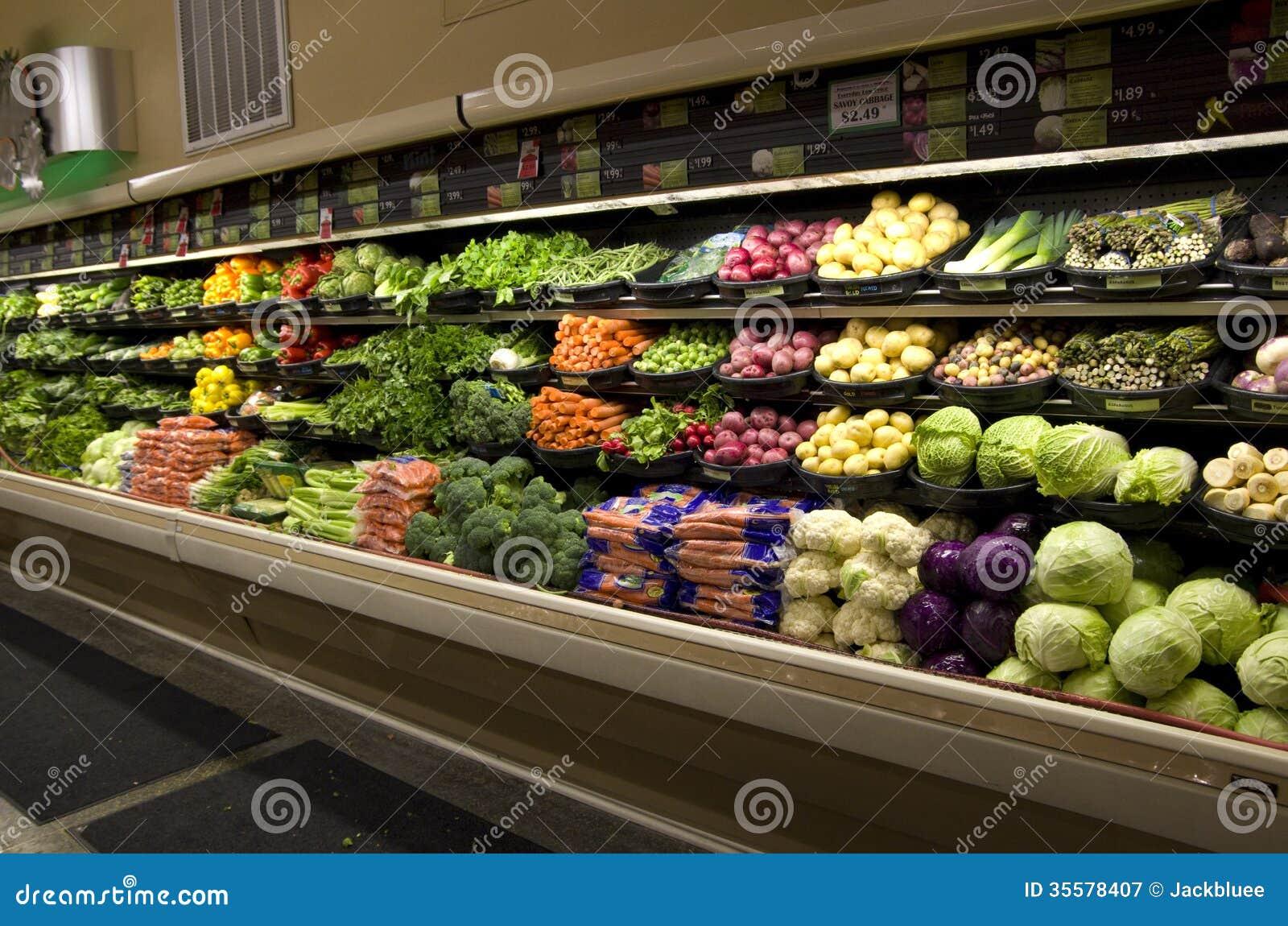 Colmado sano de las verduras